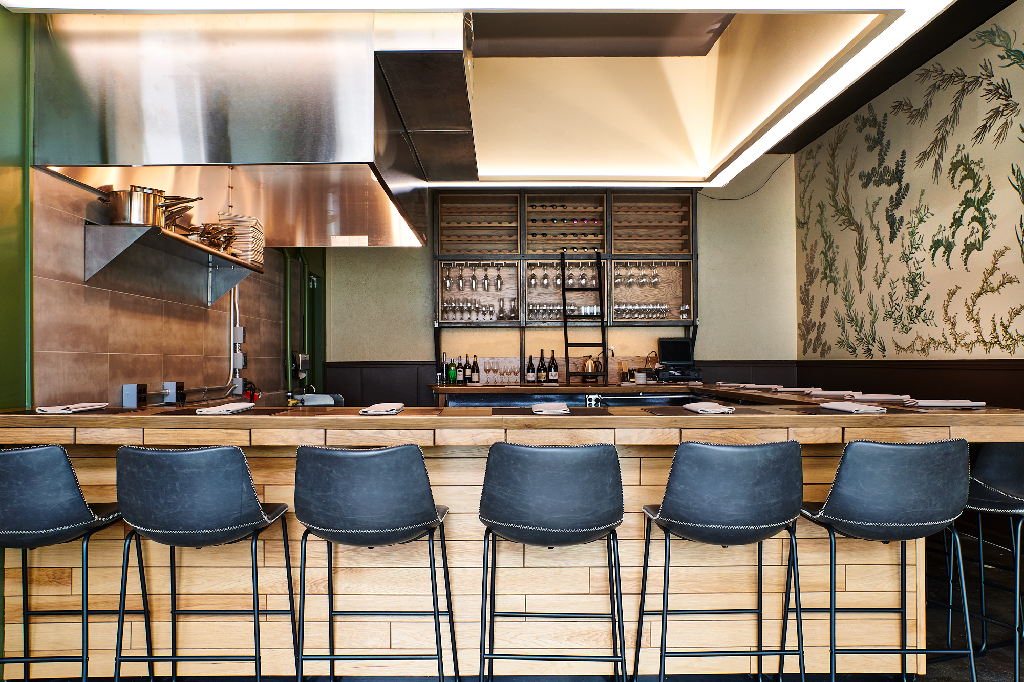 The chef's counter at Holdfast Dining