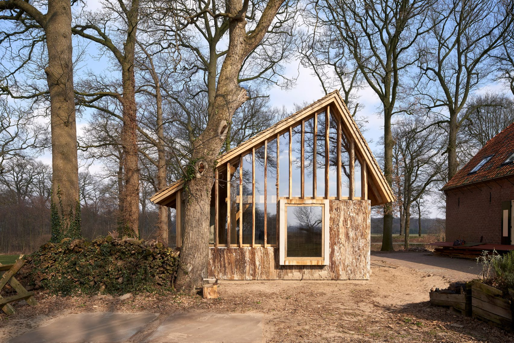 This Rustic Barn Was Made From Trees On Site