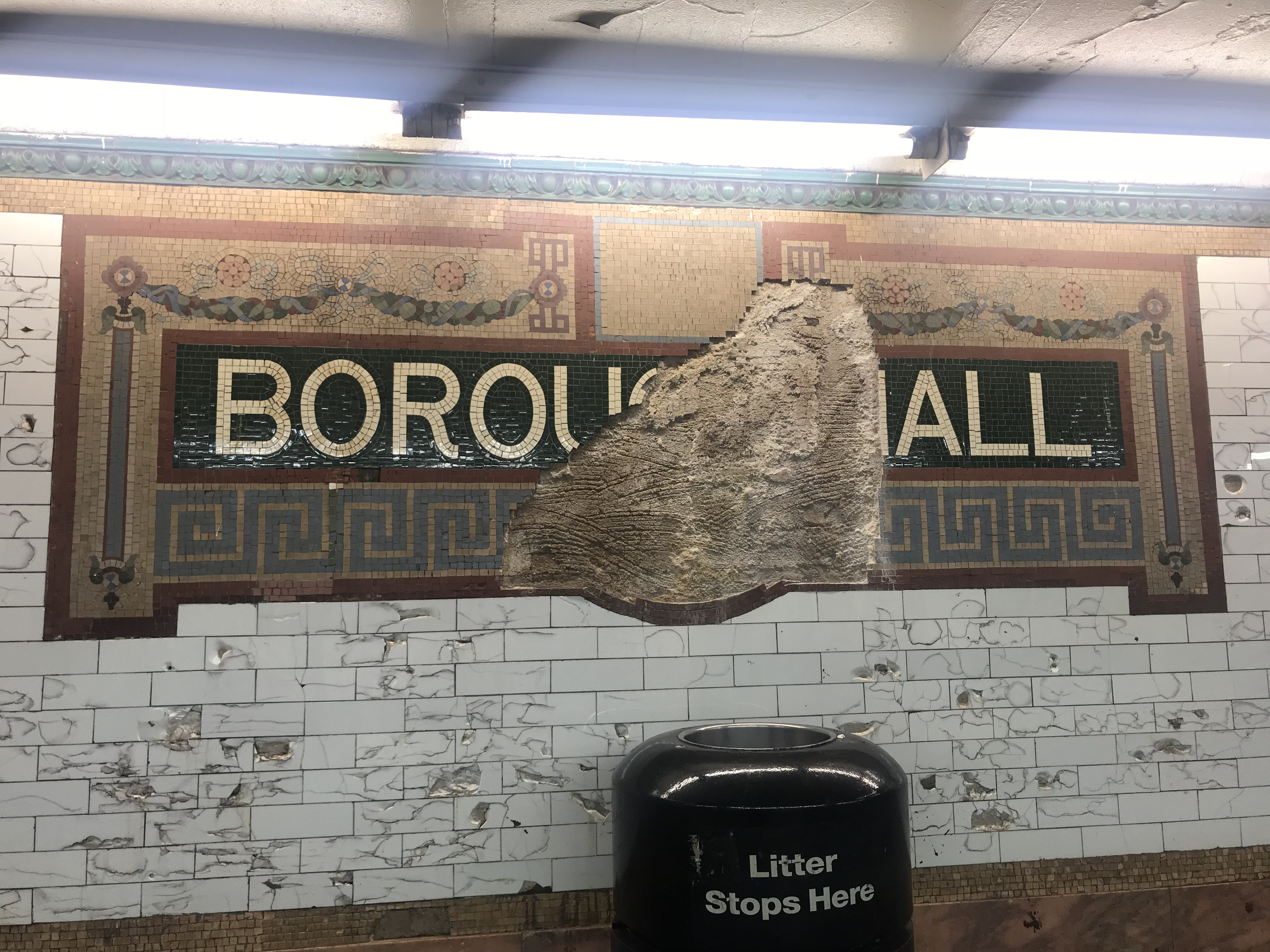 The Borough Hall Subway Station Is Literally Collapsing