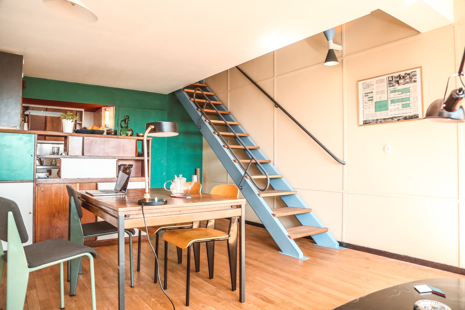Architect renovates Unité d'Habitation apartment to complete Le Corbusier's original vision