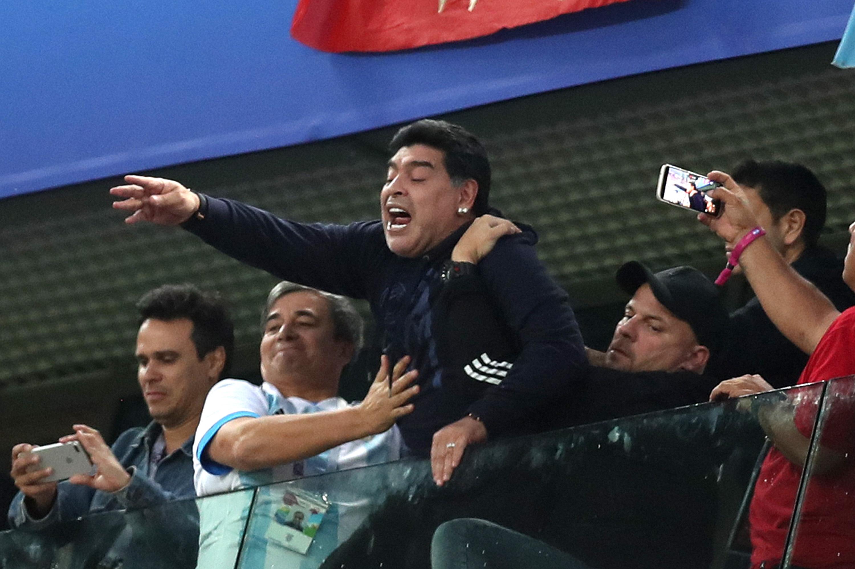 Diego Maradona - Argentina - Group D - 2018 FIFA World Cup Russia