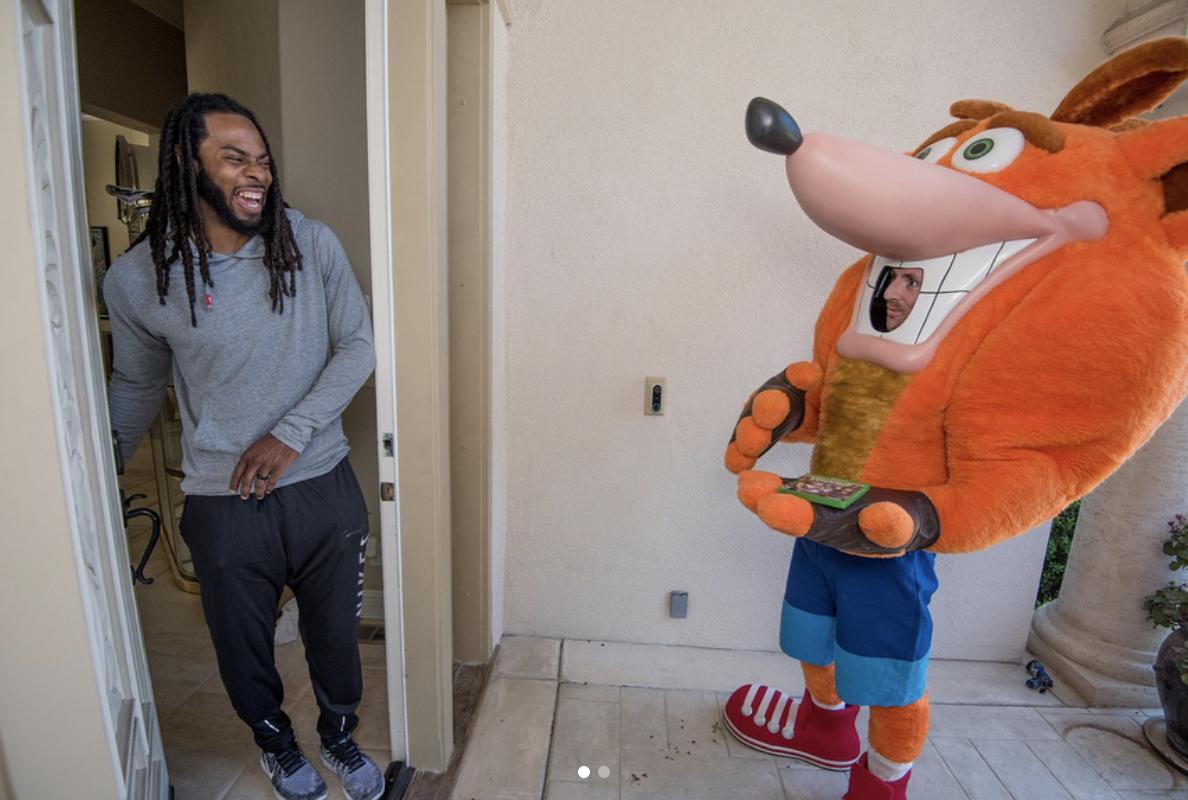 Richard Sherman and Crash Bandicoot