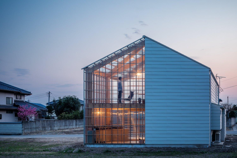 Greenhouse at dusk