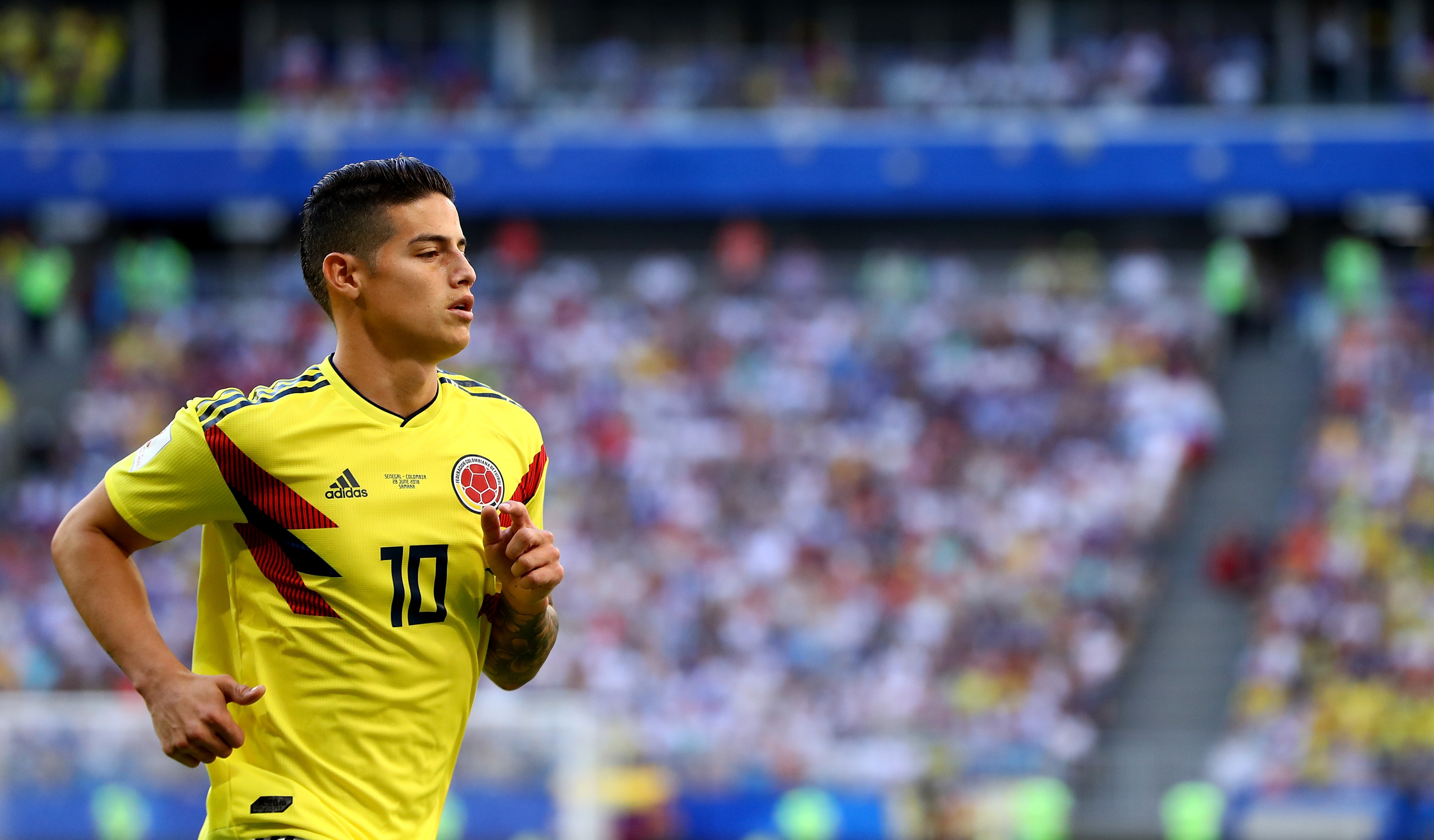 Colombian footballer James Rodriguez during FIFA World Cup 2018, before Colombia play England in the round of 16