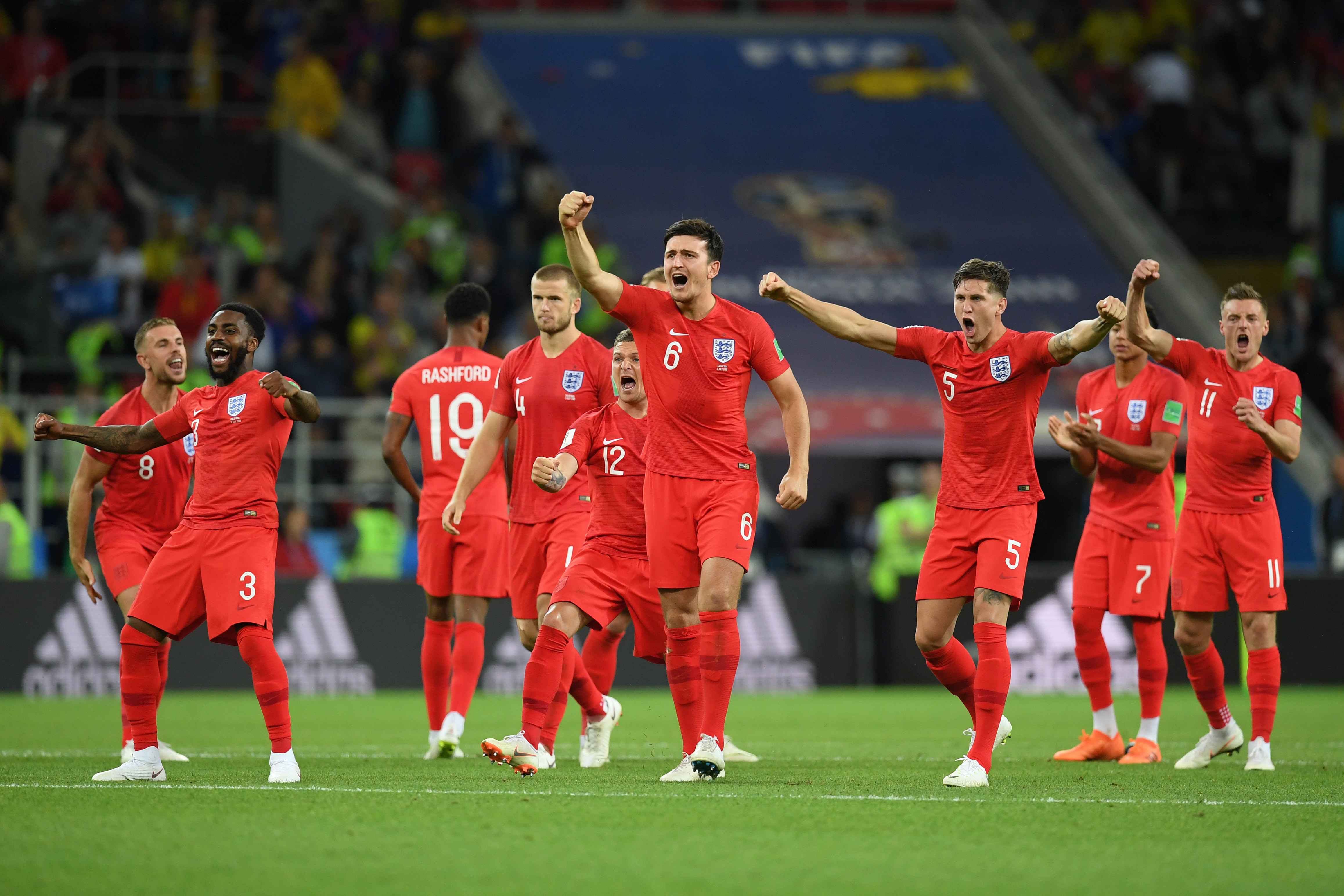England fans were bloody chuffed after Eric Dier scored the winning PK against Colombia
