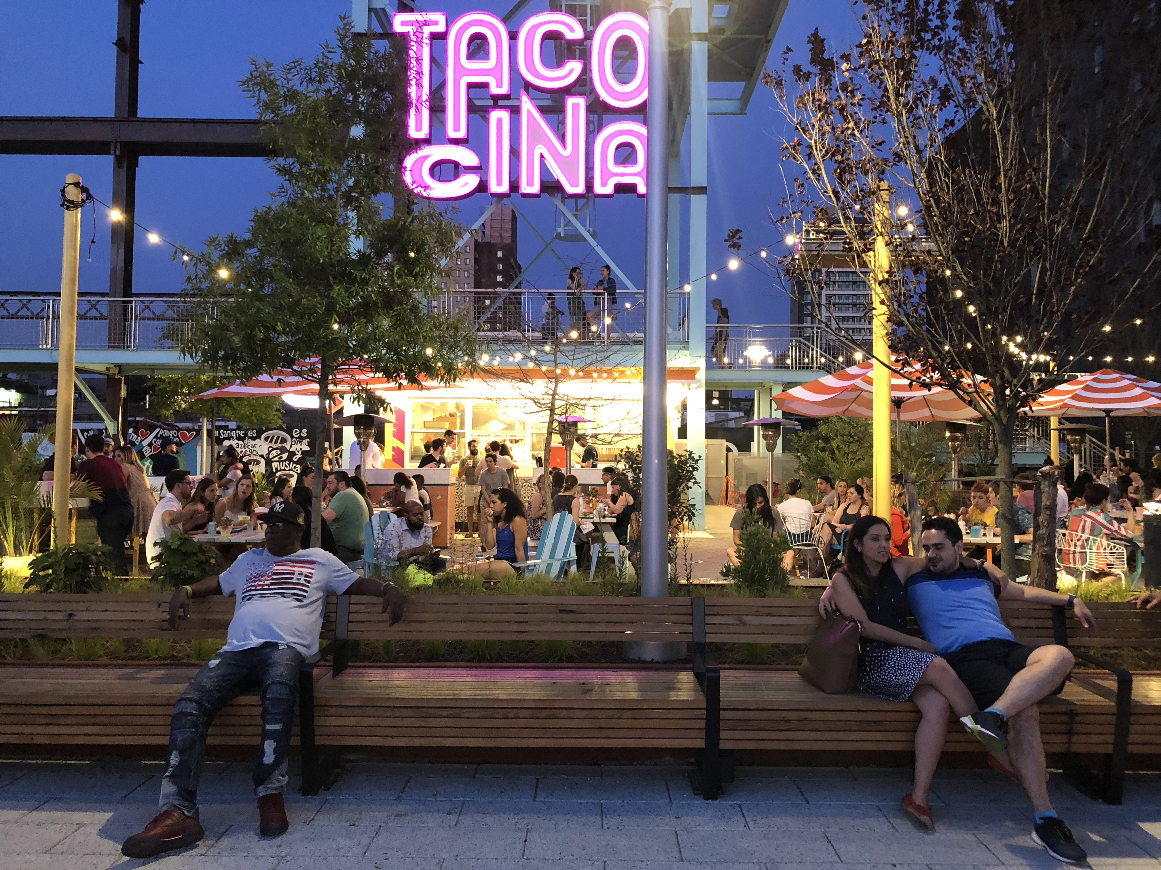 The dining area at Tacocina