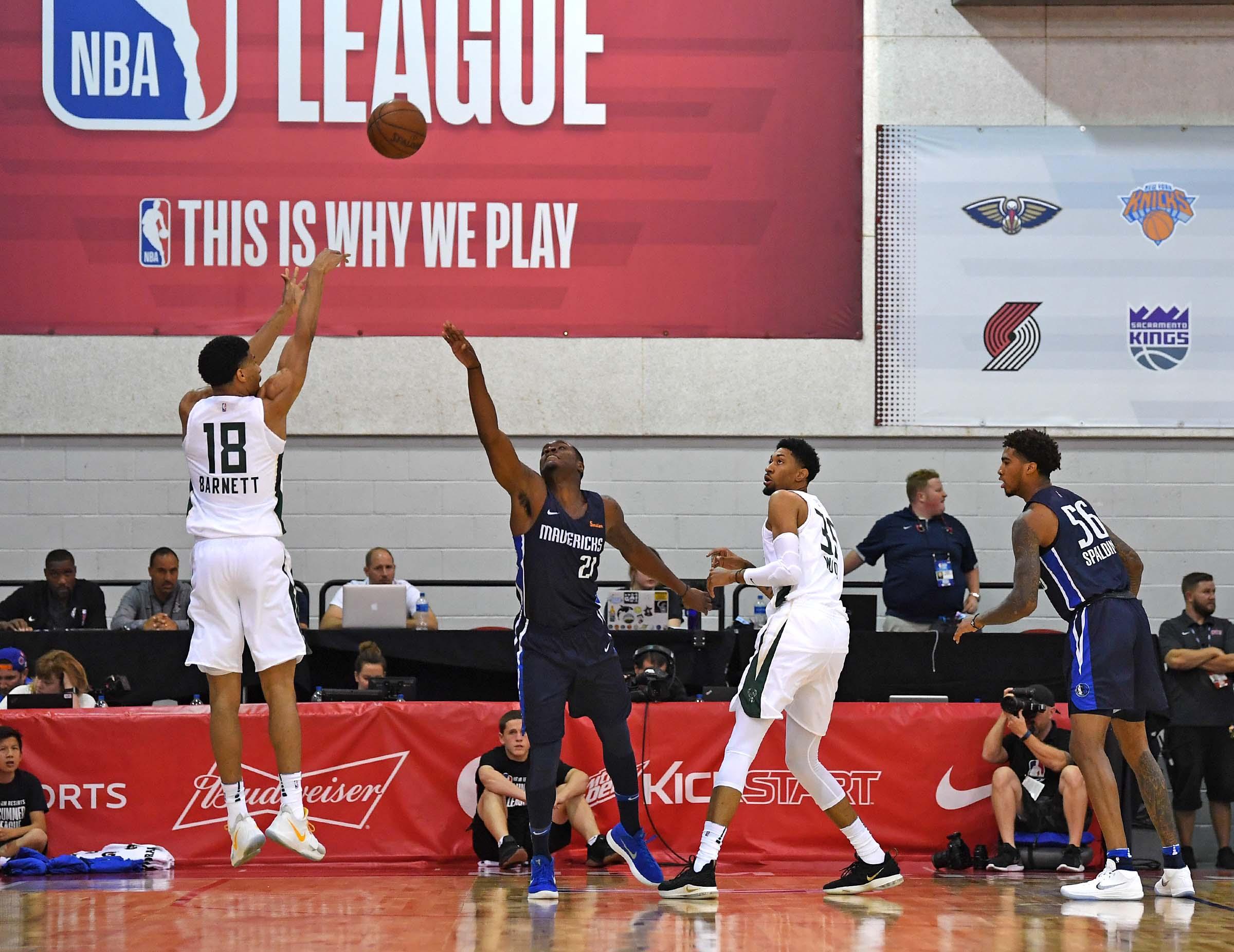 2018 NBA Summer League - Milwaukee Bucks vs  Dallas