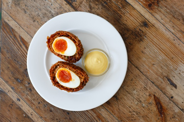 Best pub grub in London: 'nduja Scotch egg at The Royal Oak Marylebone