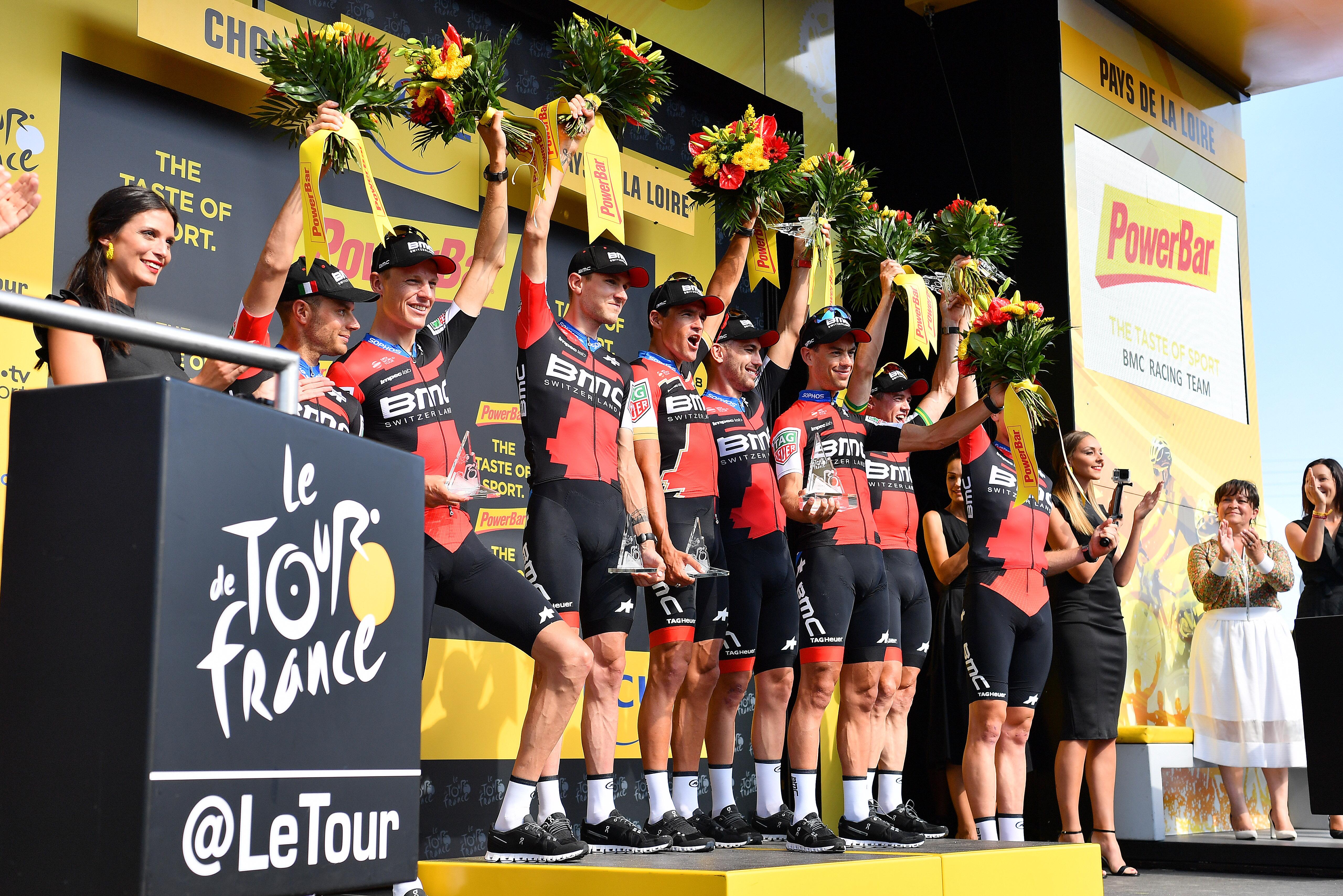 BMC podium TTT Tour de France 2018