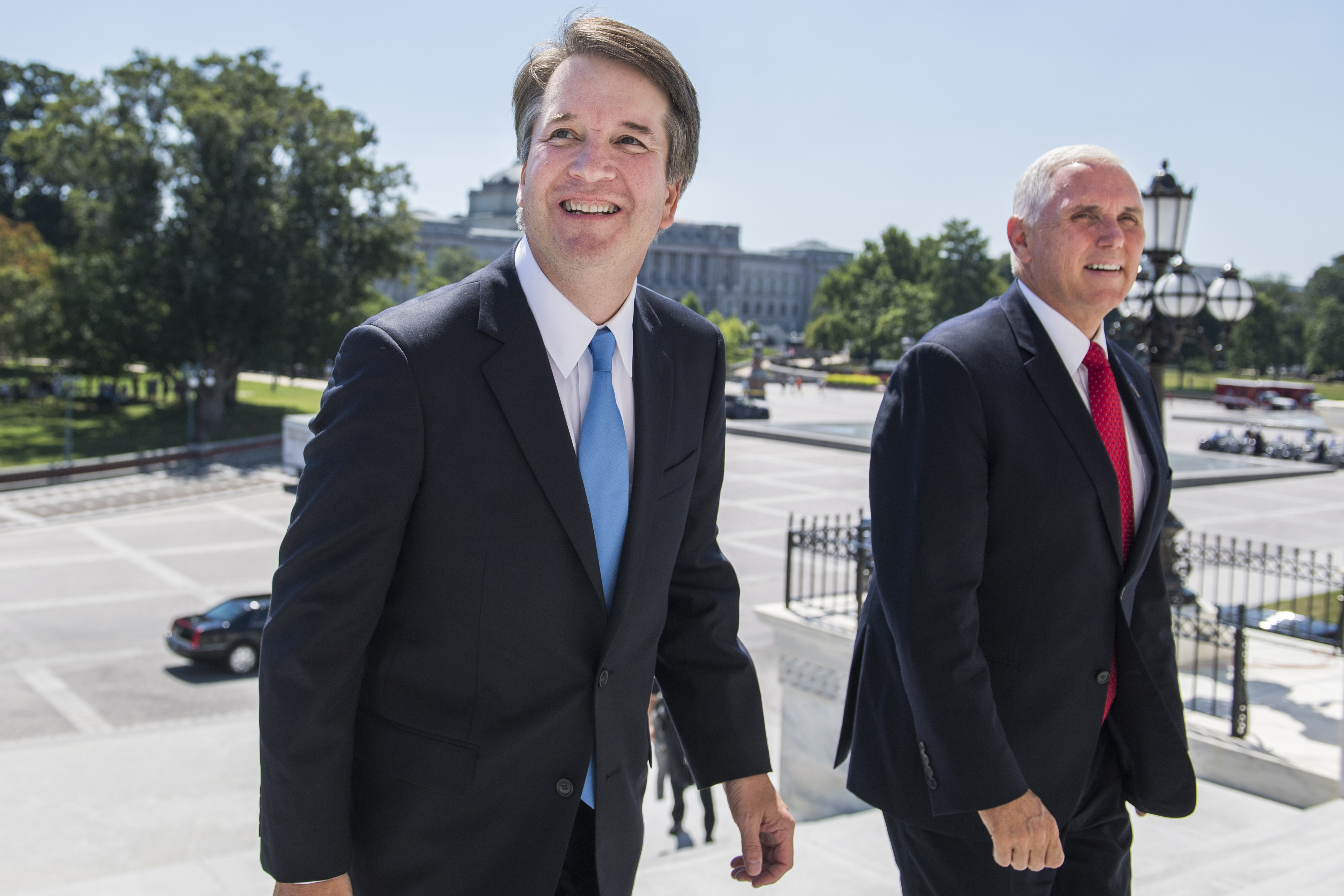 Brett Cavanaugh and Mike Pence