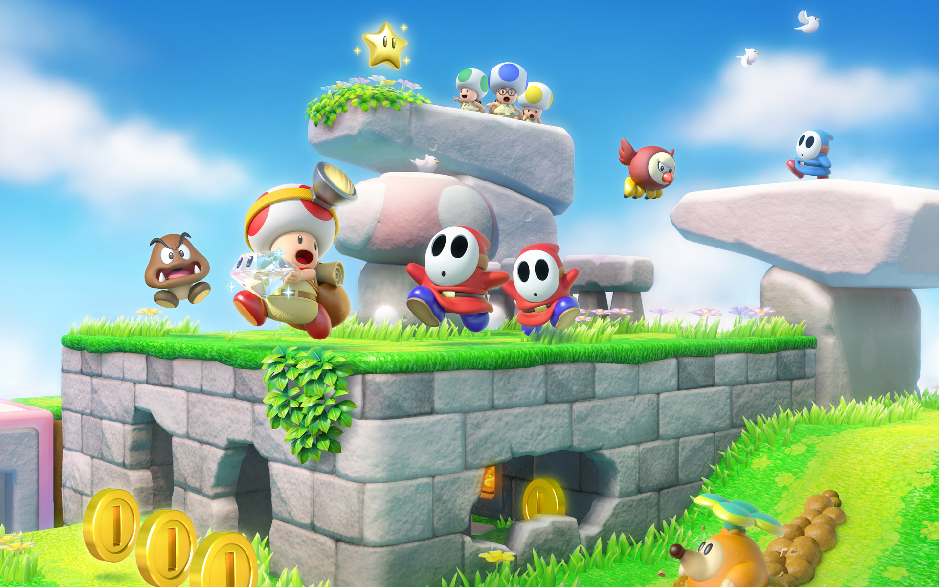 Captain Toad Treasure Tracker On Switch Is A Cant Miss Wii U Port Three Way Animation Polygon