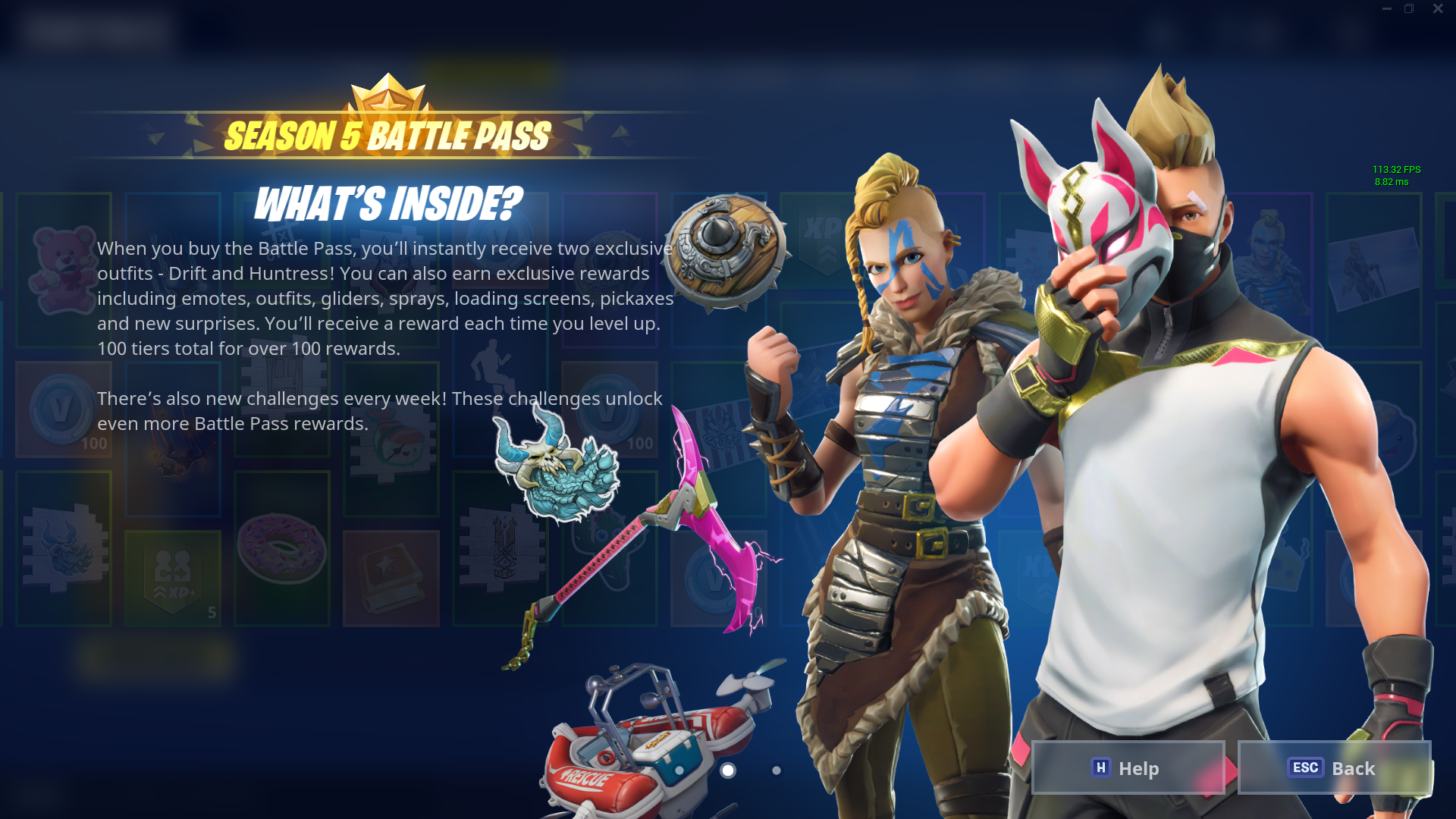 Fortnite Season 5 Battle Pass Skins Price Details And More Polygon