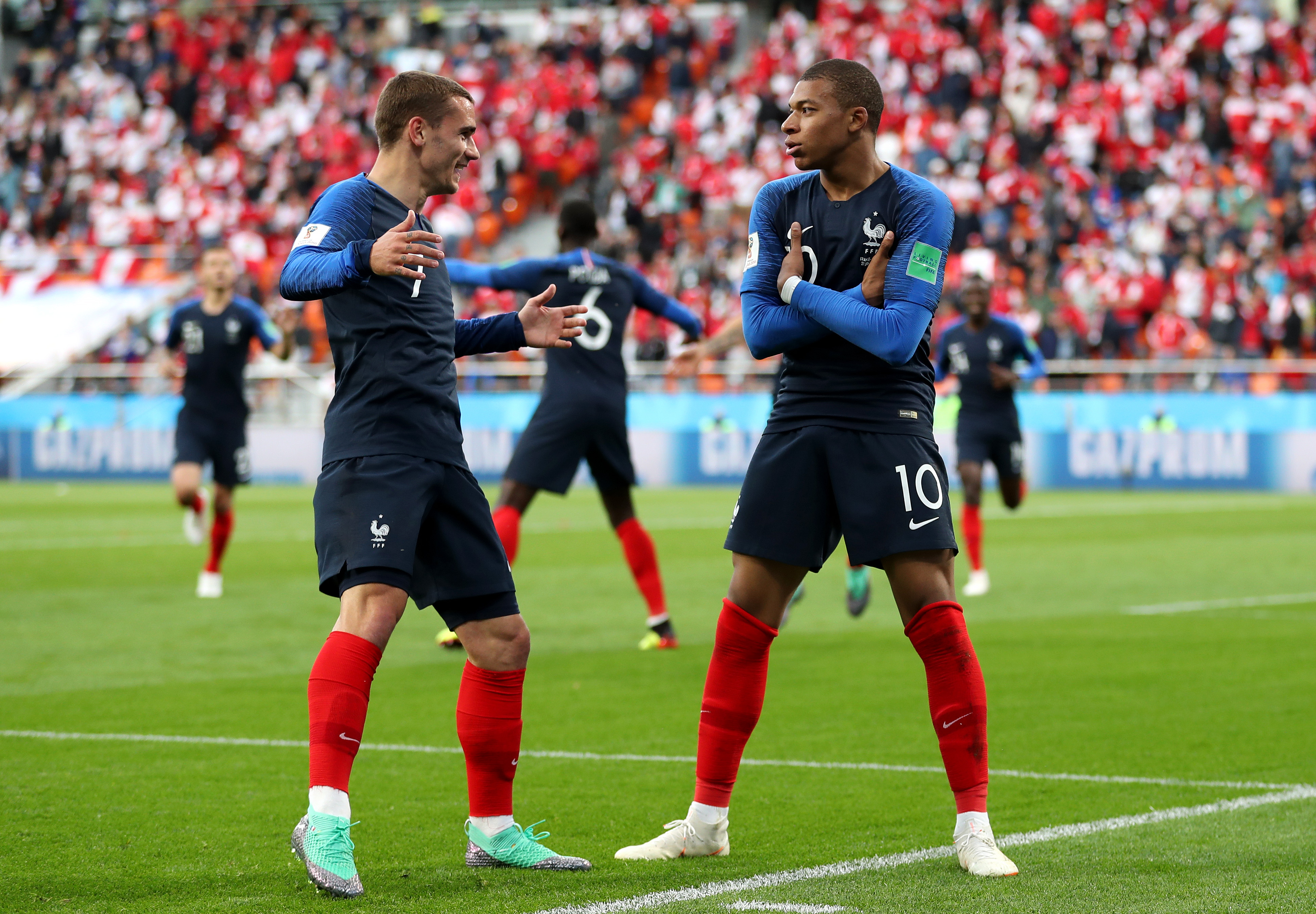 Antoine Griezmann and Kylian Mbappe - France - 2018 FIFA World Cup Russia