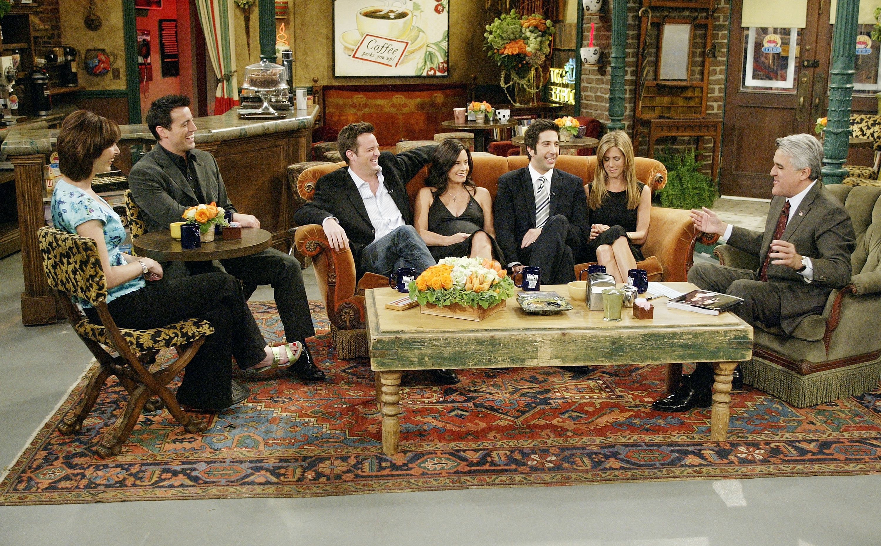 Cast of 'Friends' on the 'Tonight Show with Jay Leno'