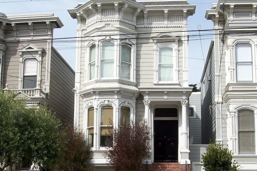 """The facade of the """"Full House"""" house on Broderick Street."""