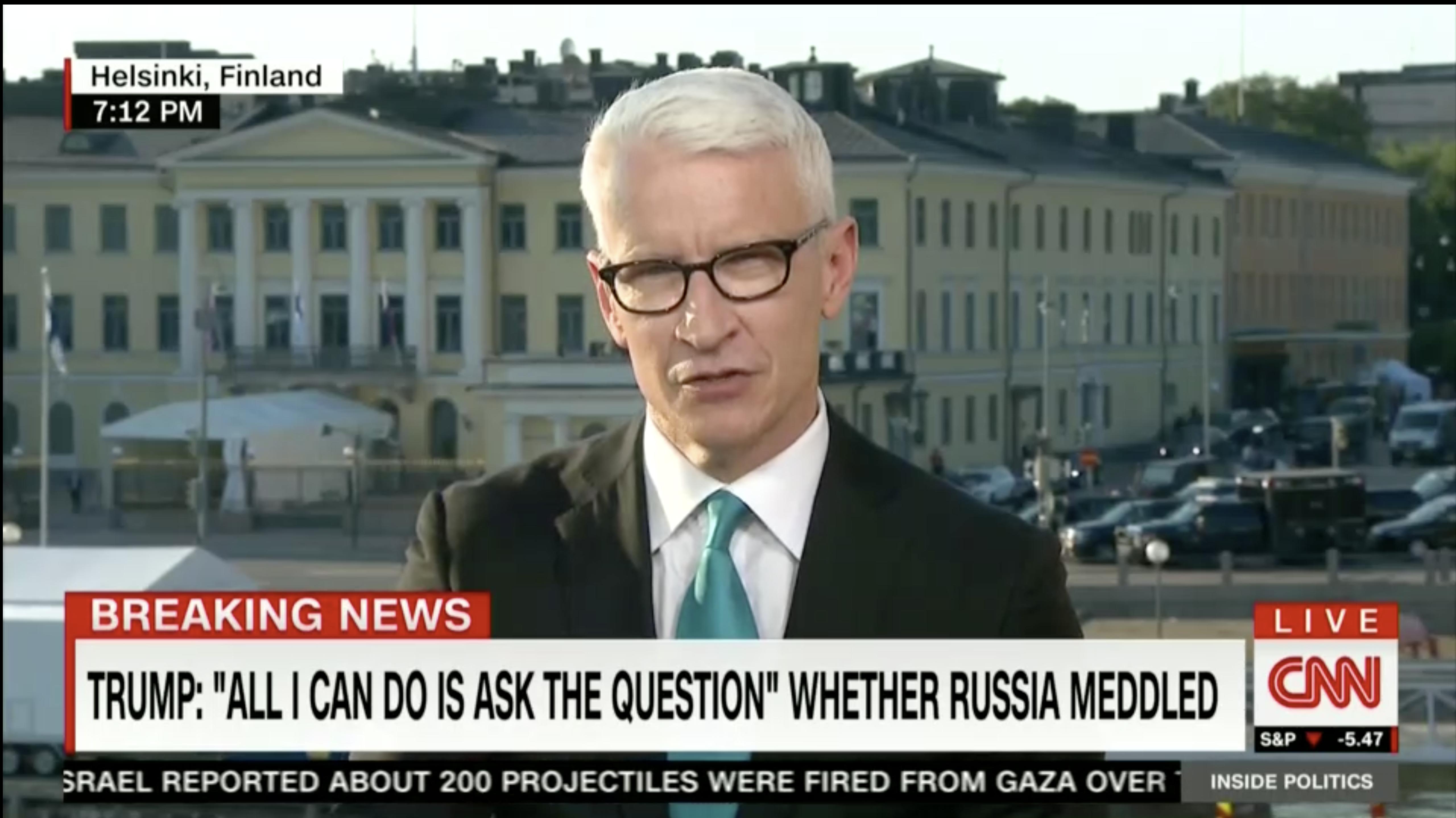 Anderson Cooper Calls Trumps Helsinki Performance Disgraceful
