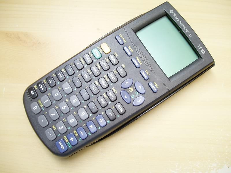A TI-83 graphing calculator