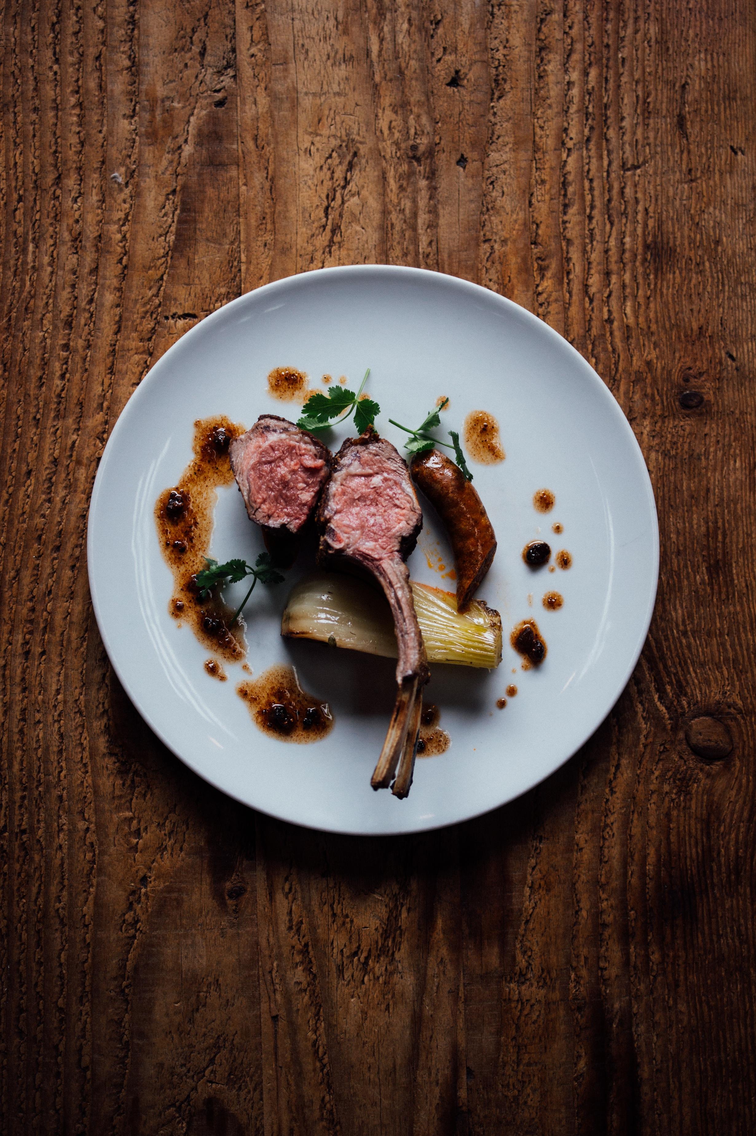 Lamb chop at Piperade