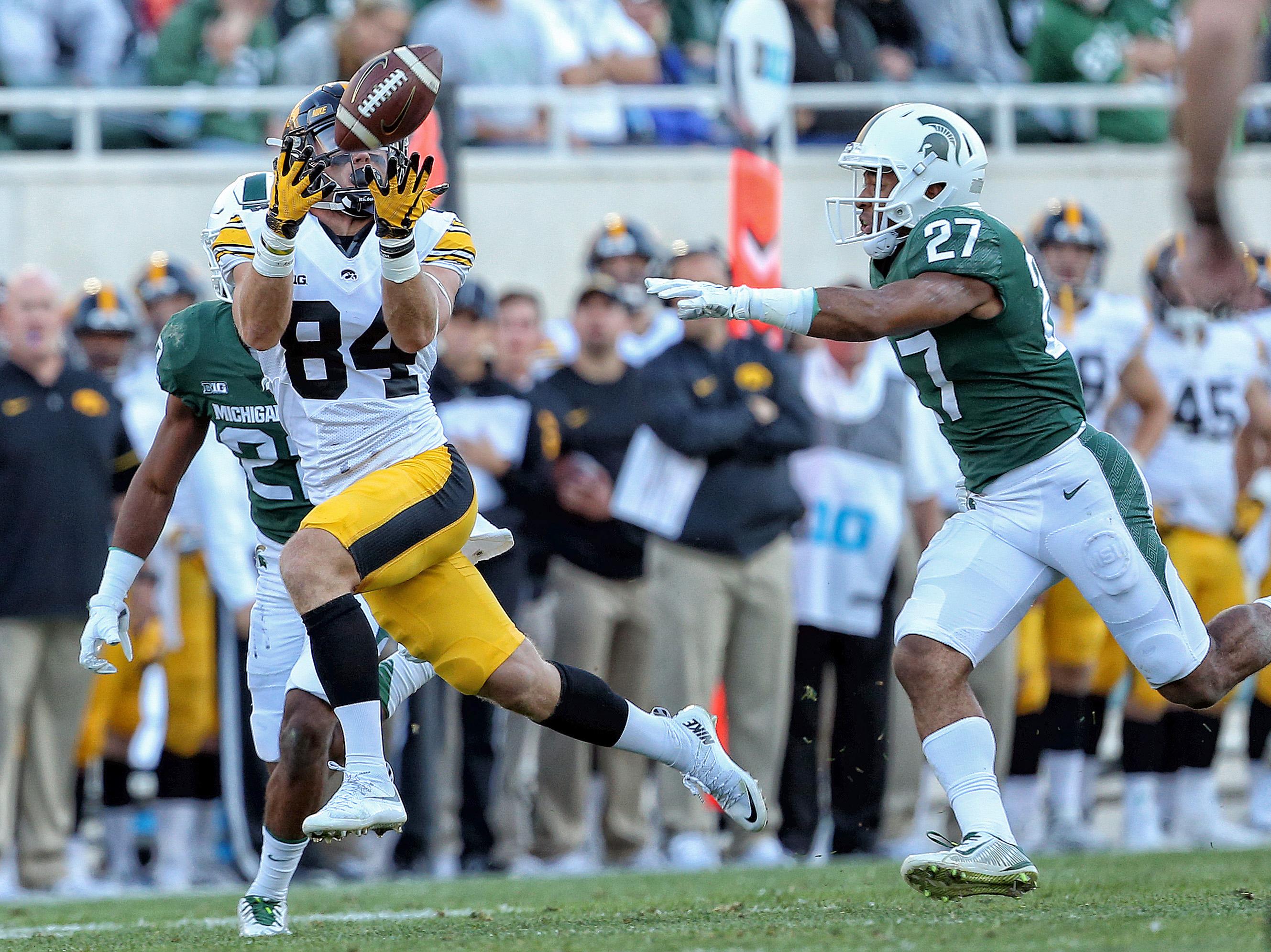NCAA Football: Iowa at Michigan State