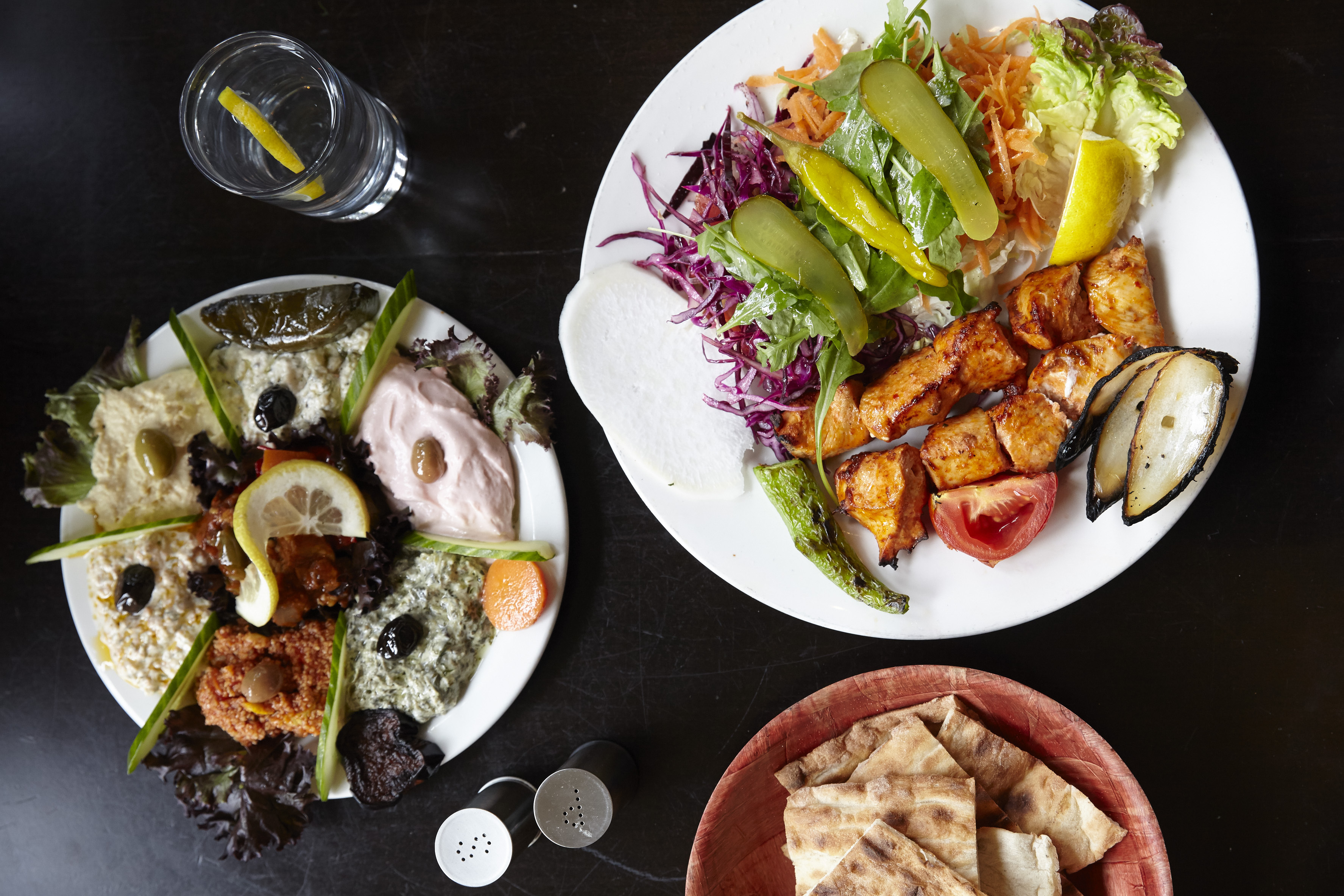 Ocakbasi and mezze at Mangal 2, the Turkish restaurant in Dalston that that forms part of the best 24 hour restaurant travel itinerary for London — where to eat with one day in the city