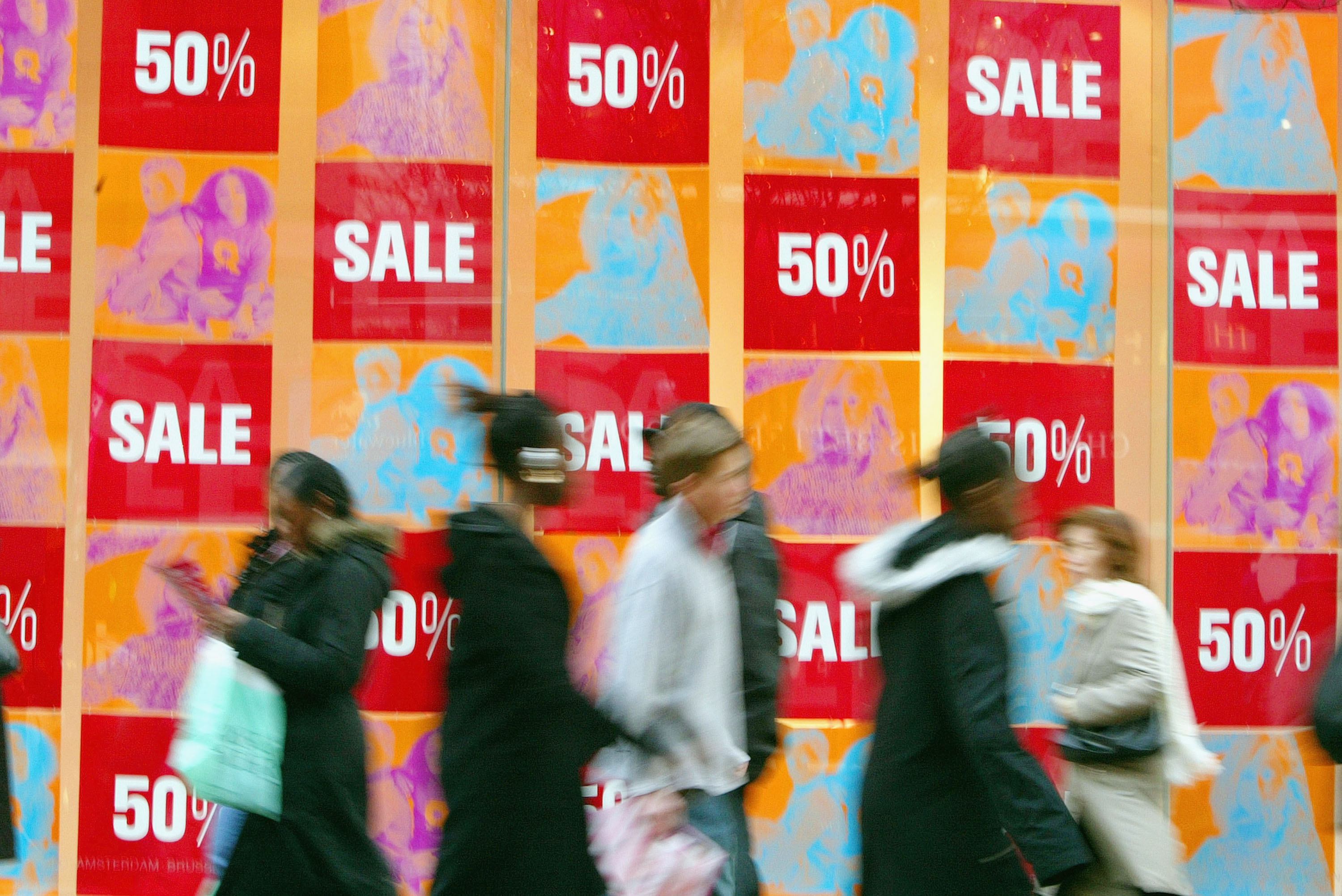 Shoppers during a sale