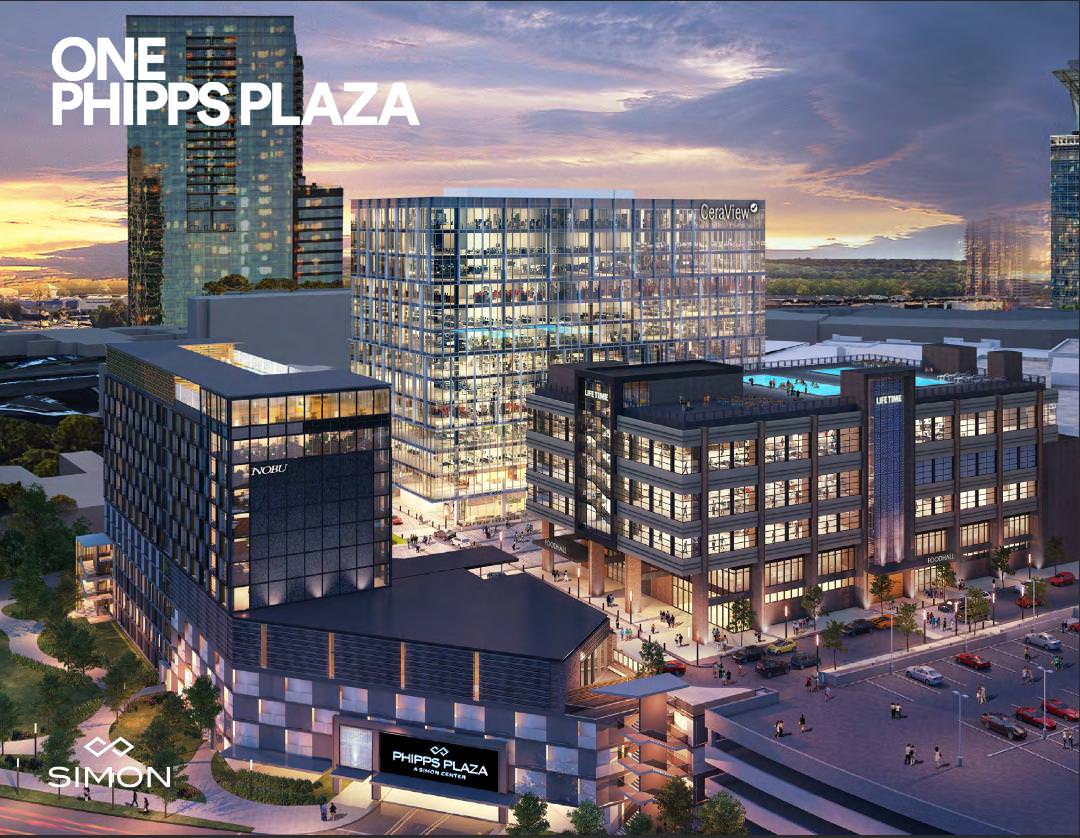 A rendering of the Phipps Plaza redevelopment