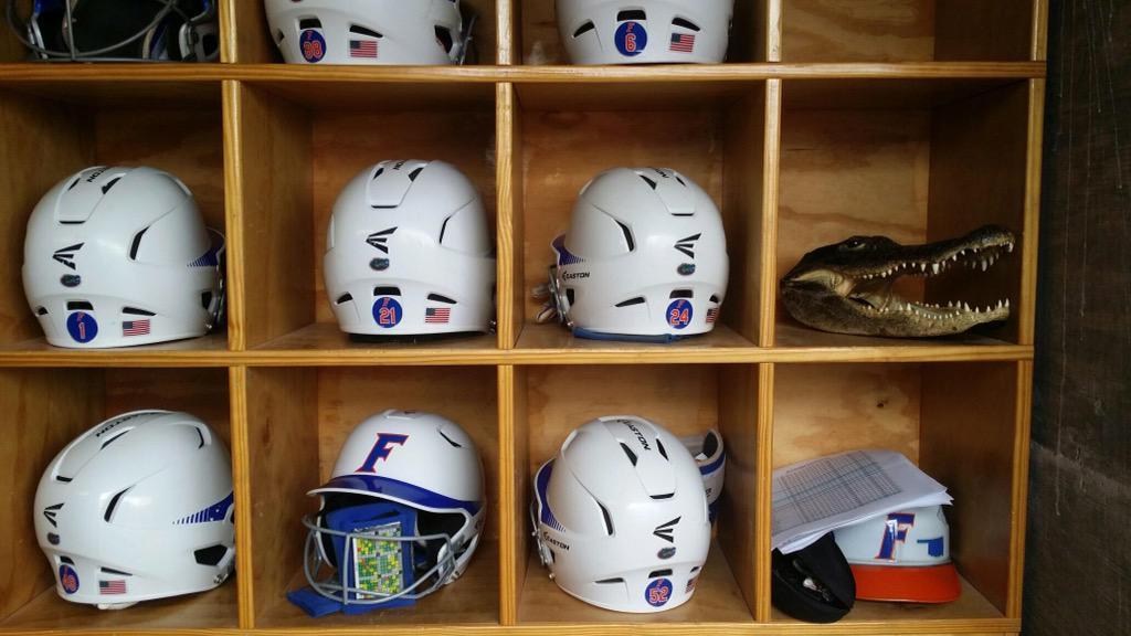 Gators Helmets Dugout