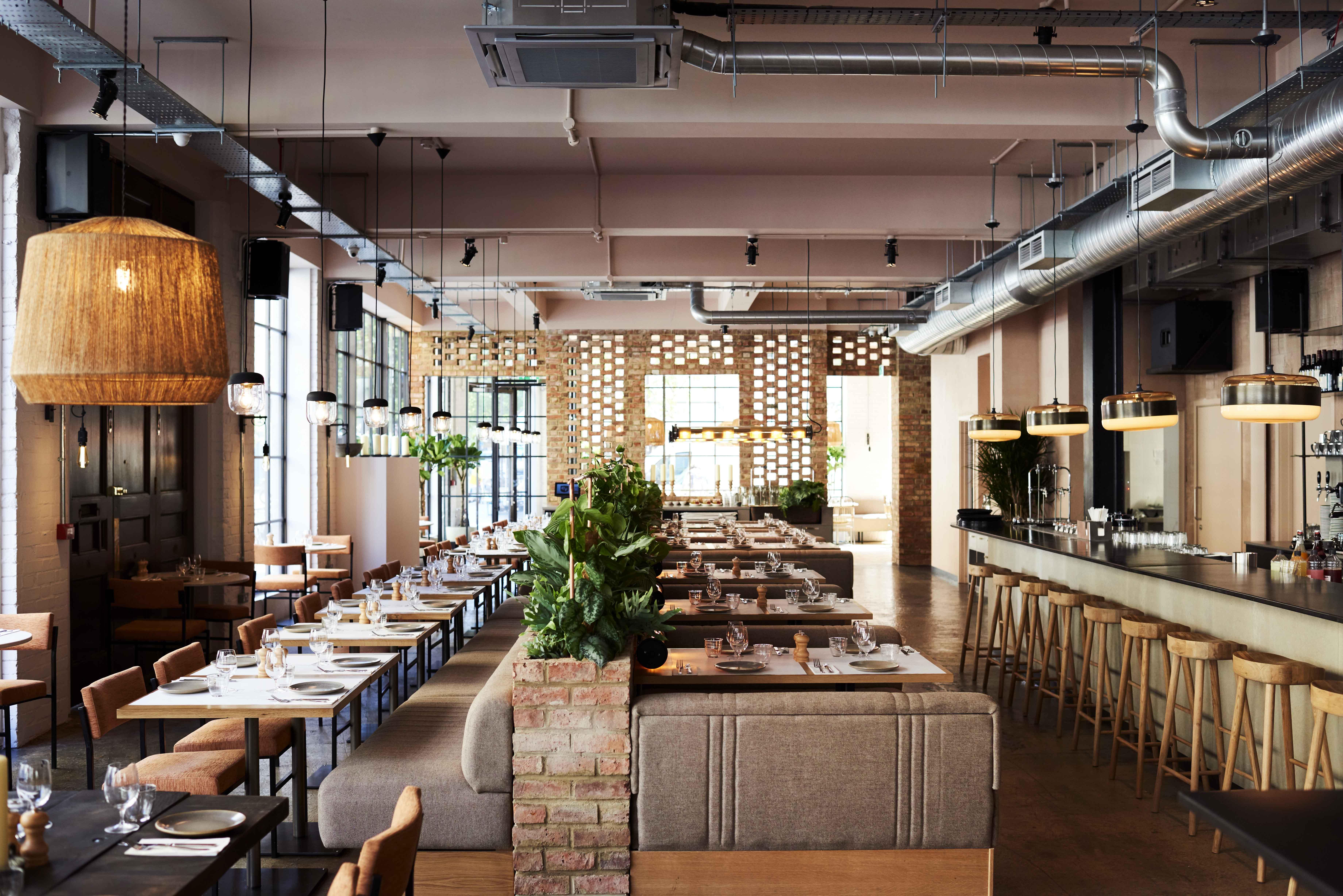 The interior at Caravan Coffee Roasters' new restaurant on Great Portland Street, Fitzrovia, London