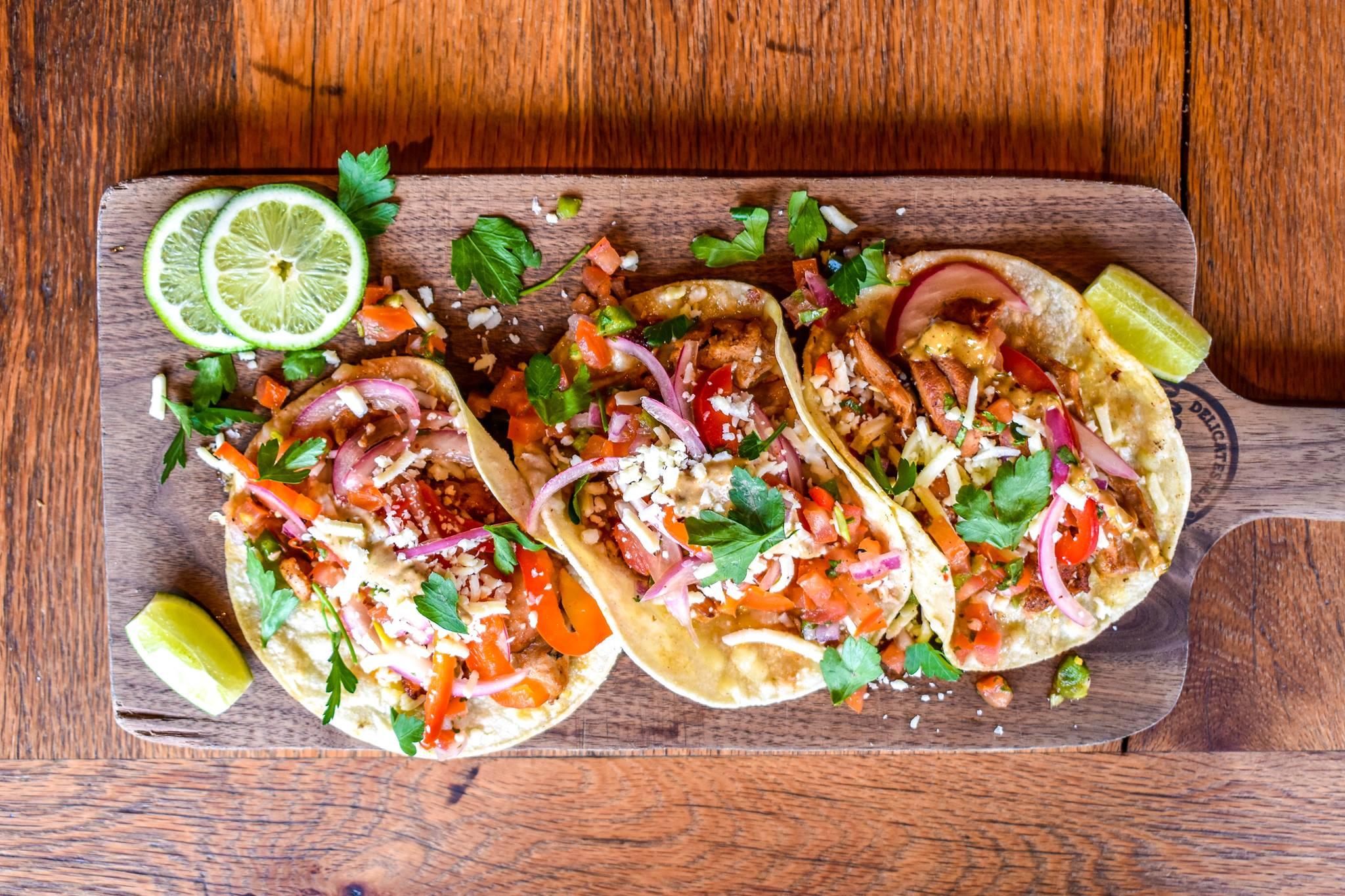 Tacos from El Rincón de Moody's