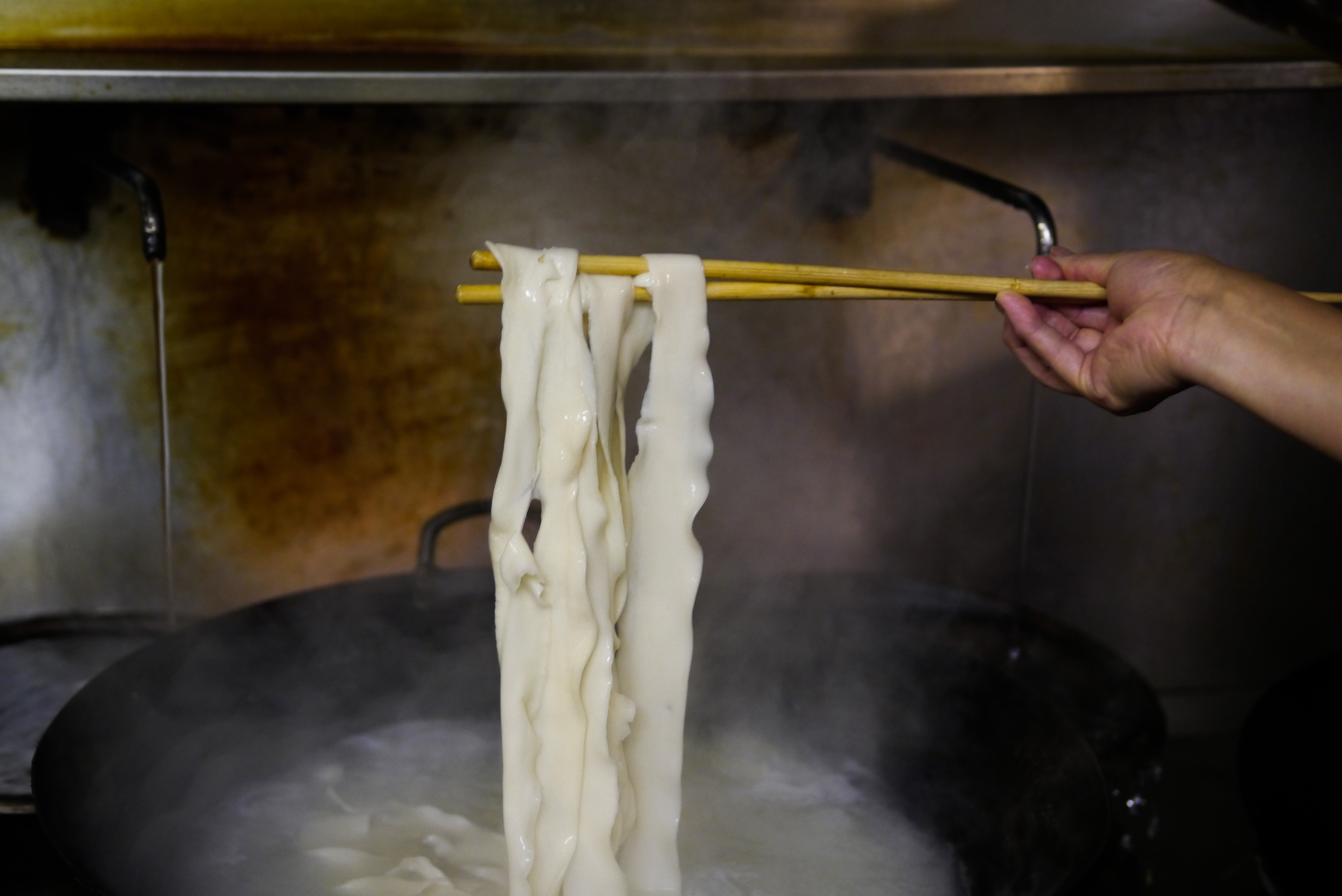Hand-pulled biang biang noodles at Xi'an Chinese restaurant Xi'an Impression in north London
