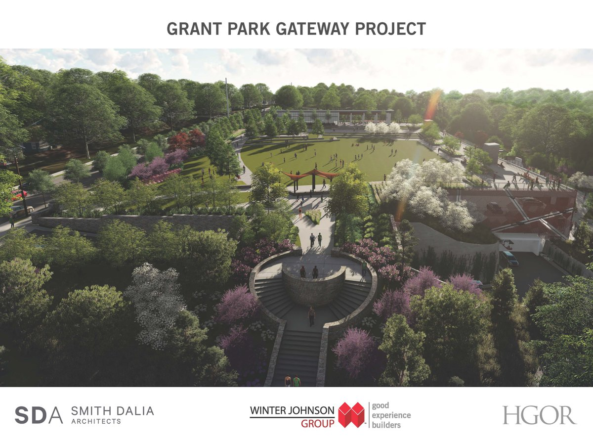 A rendering of the park's makeover