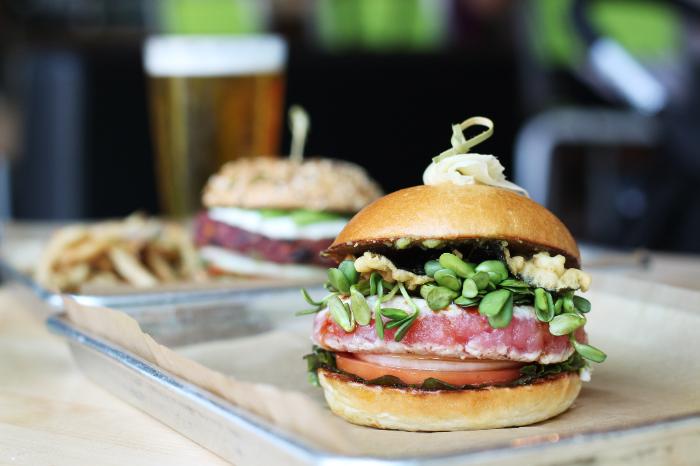The ahi tuna burger from Hopdoddy Burger Bar