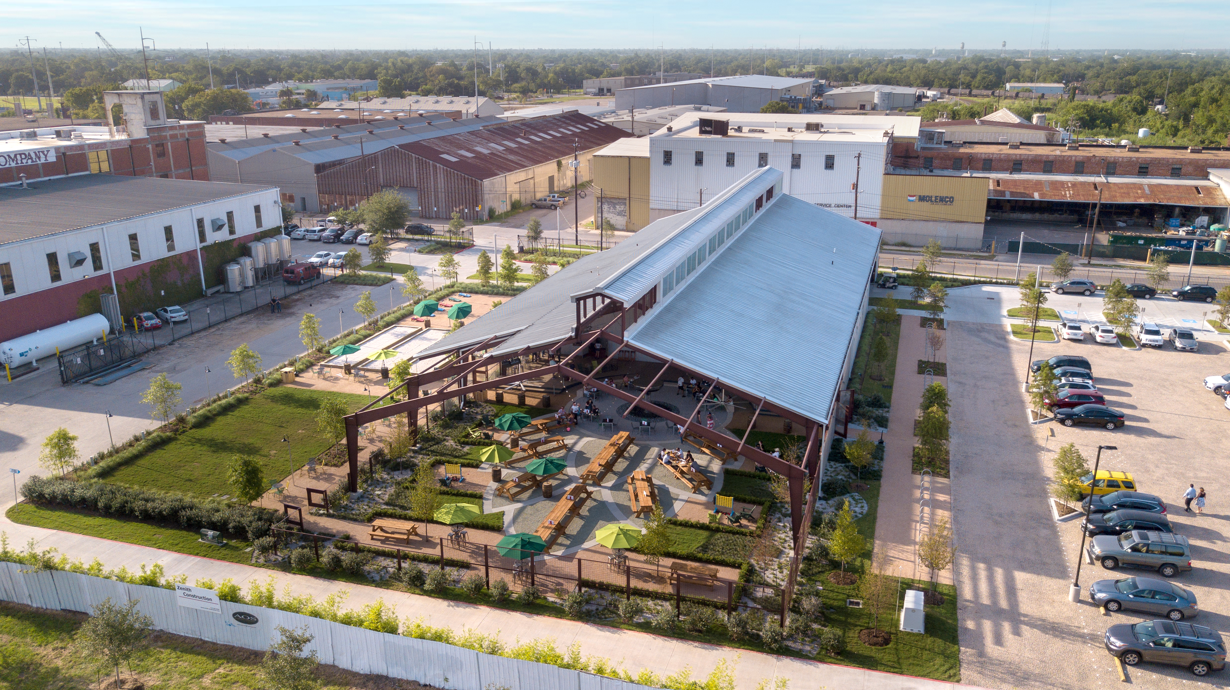 See Inside Saint Arnold's New Cathedral-Inspired Beer Garden and Restaurant