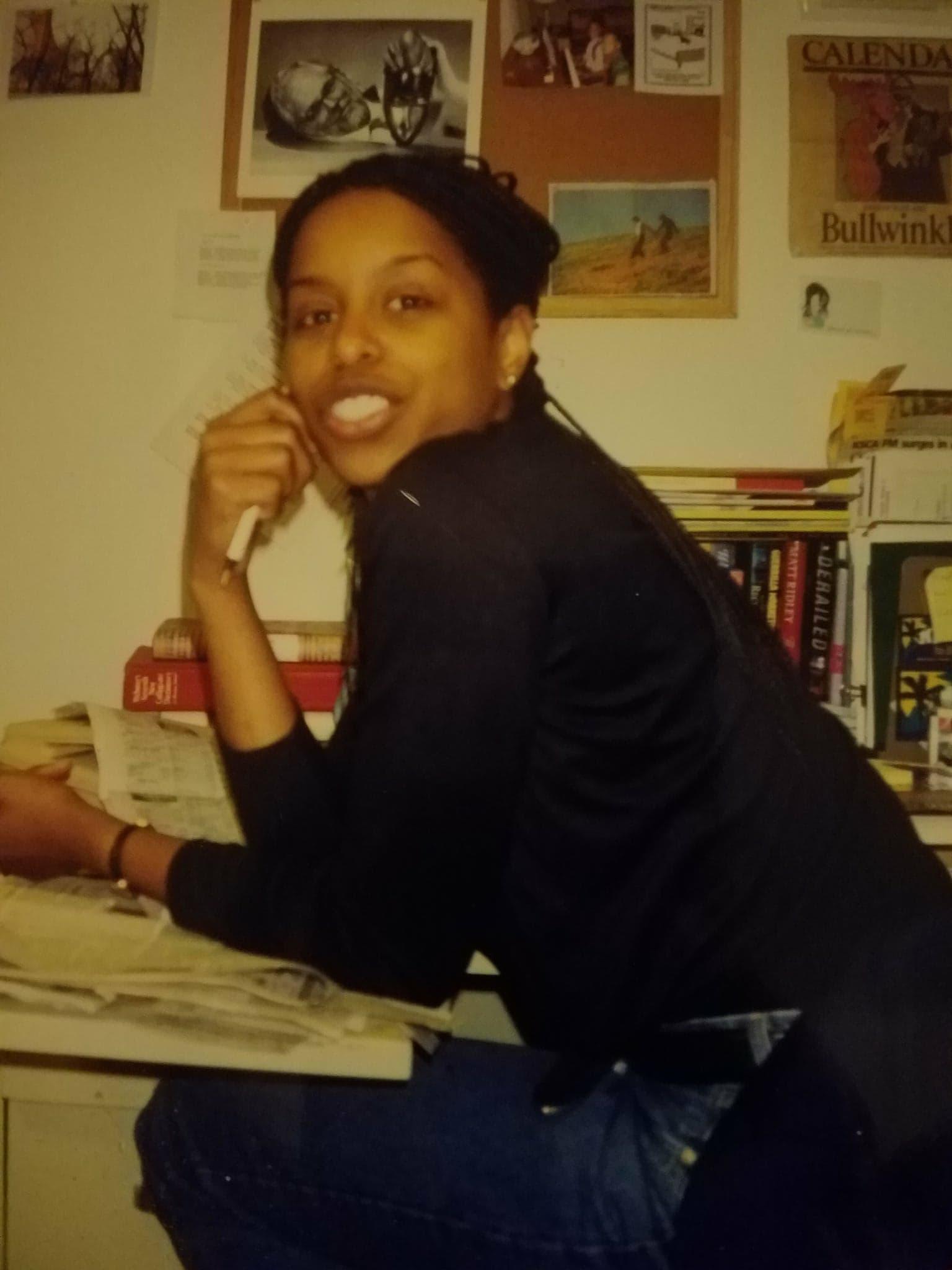 Writer Mona Holmes circa 1999