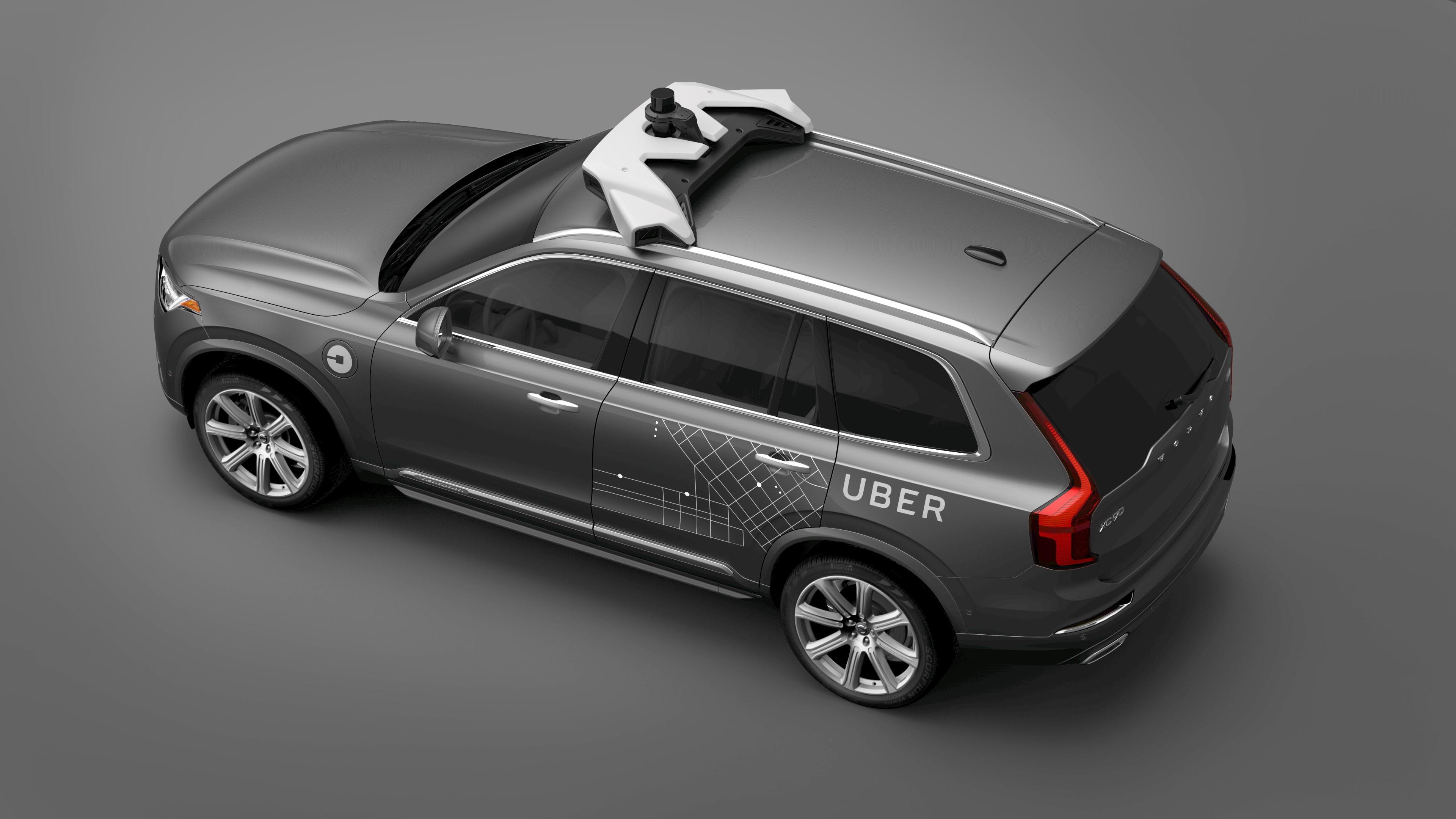An Uber self-driving car