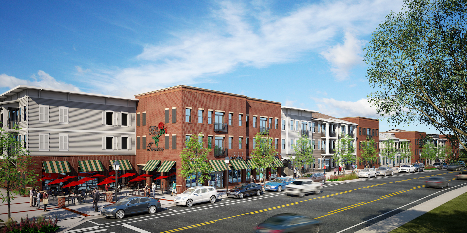 The future calls for more living, shopping, and walking in historic downtown Lawrenceville.