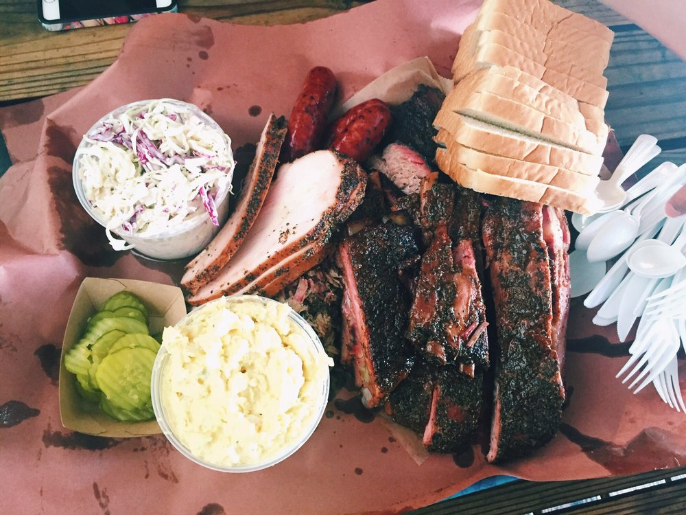 Barbecue and sides from Franklin Barbecue