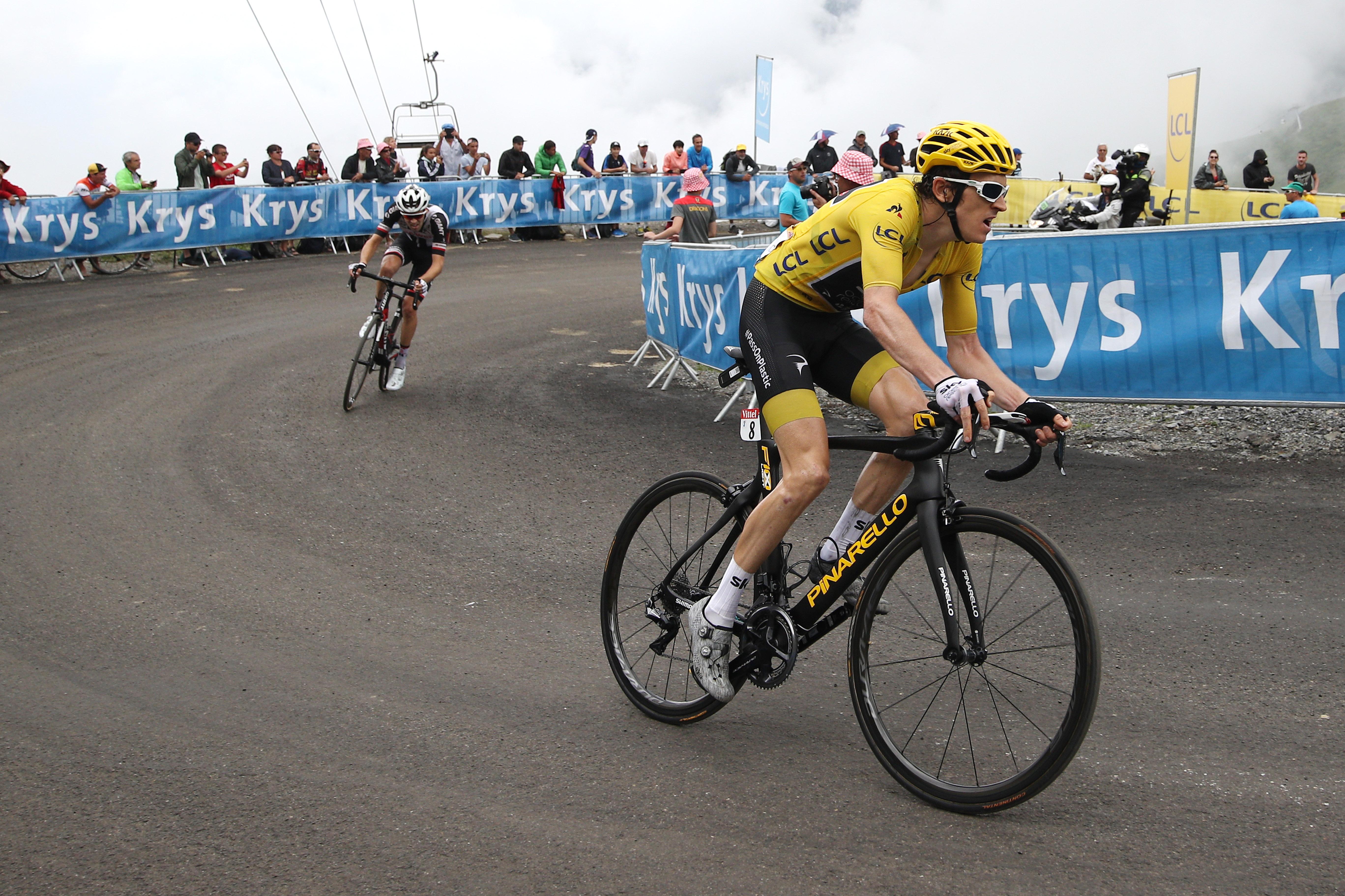 Thomas Dumoulin Col de Portet 2018 Tour stage 17