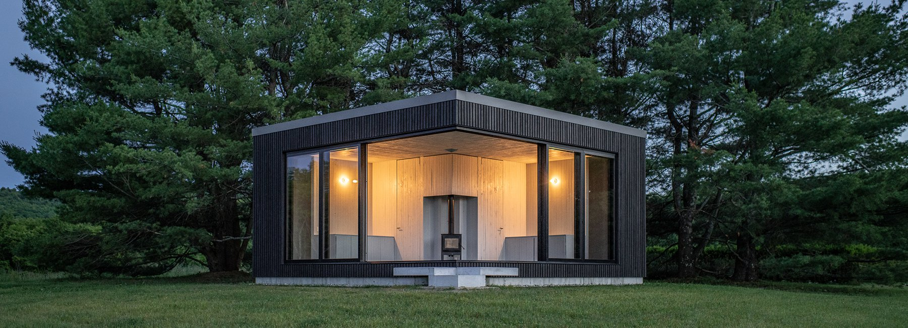 Charred timber cabin in Vermont is a minimalist's dream