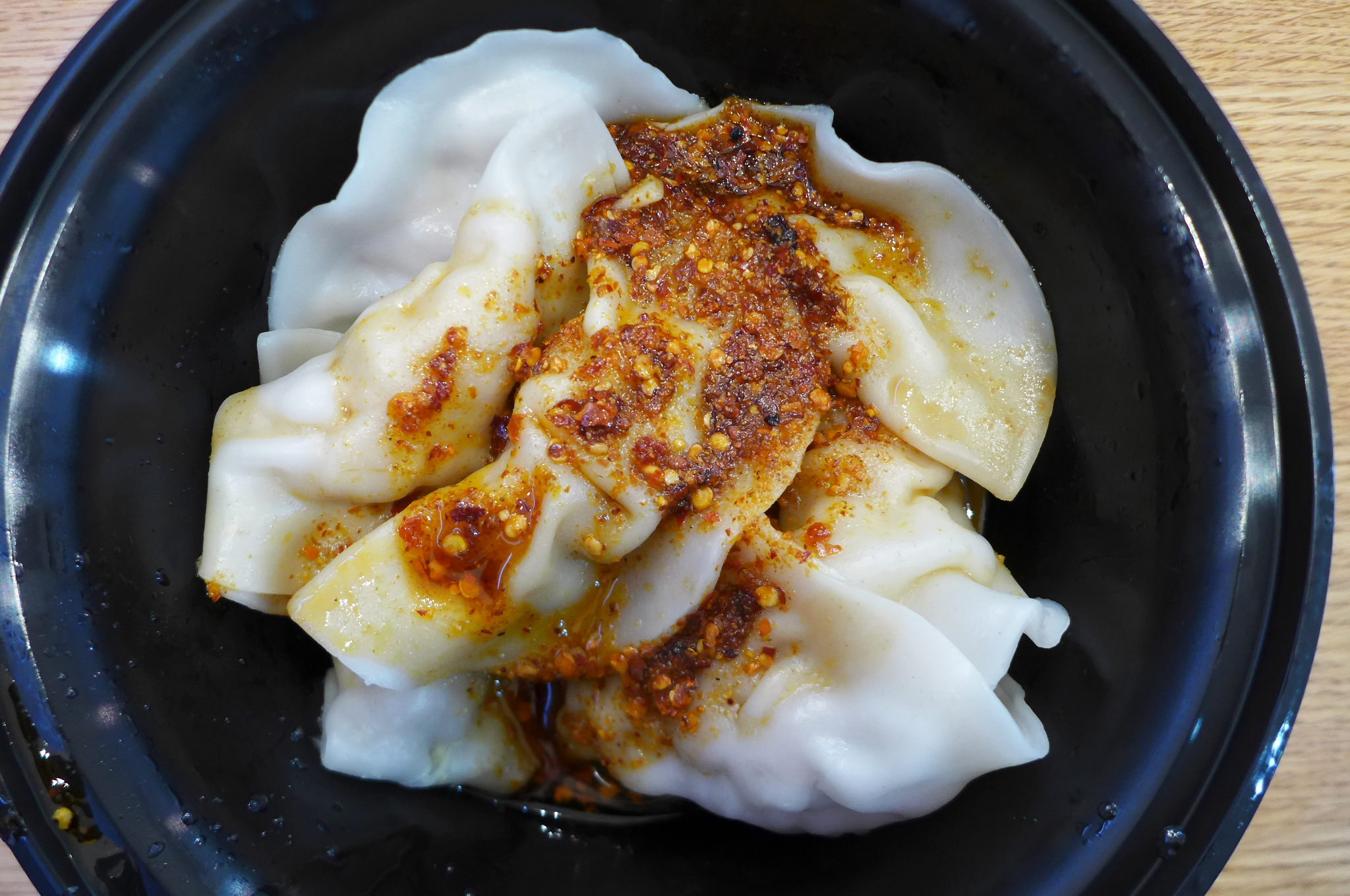 Chile oil dumplings