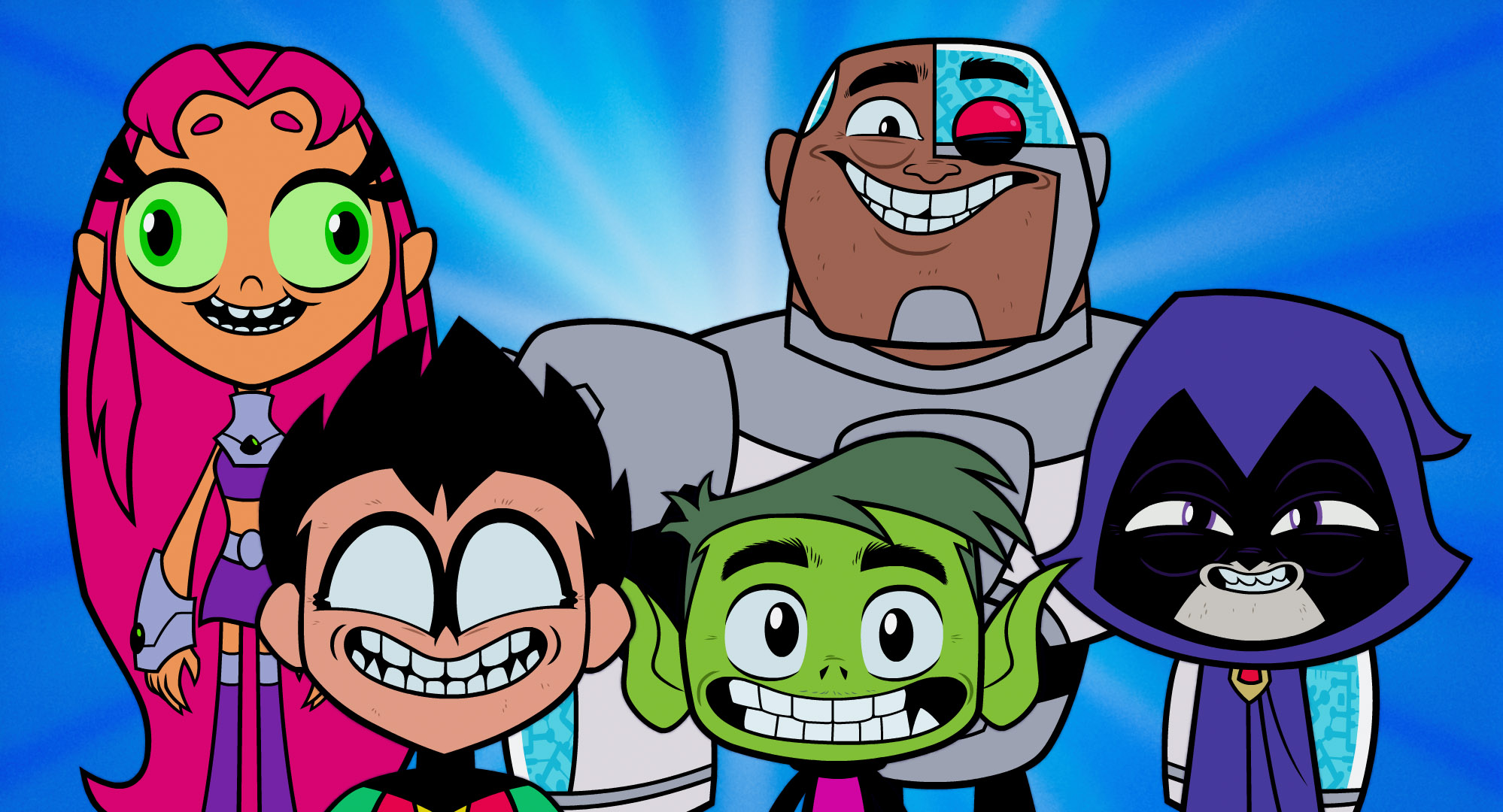 Teen Titans go to the movies smiling heroes fun