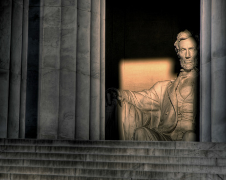 The Lincoln Memorial at sunrise