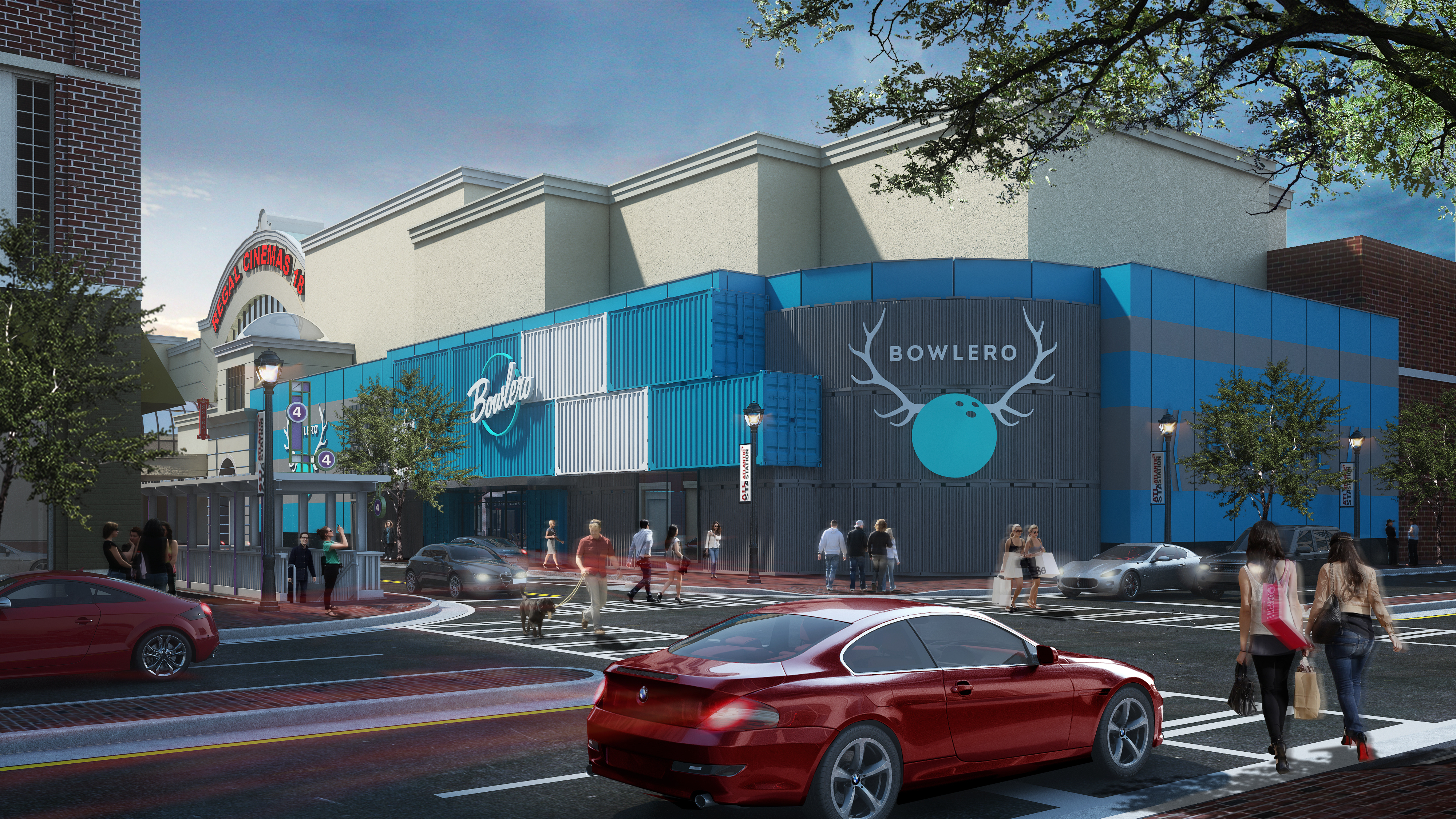 How Bowlero in Atlantic Station is projected to look.