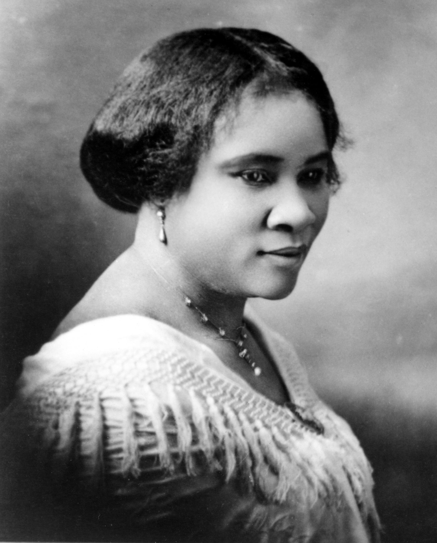 Madam CJ Walker, born Sarah Breedlove, in 1914. Change Remove