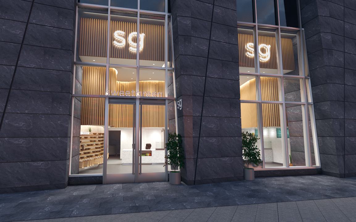 A rendering of Sweetgreen Hudson Yards