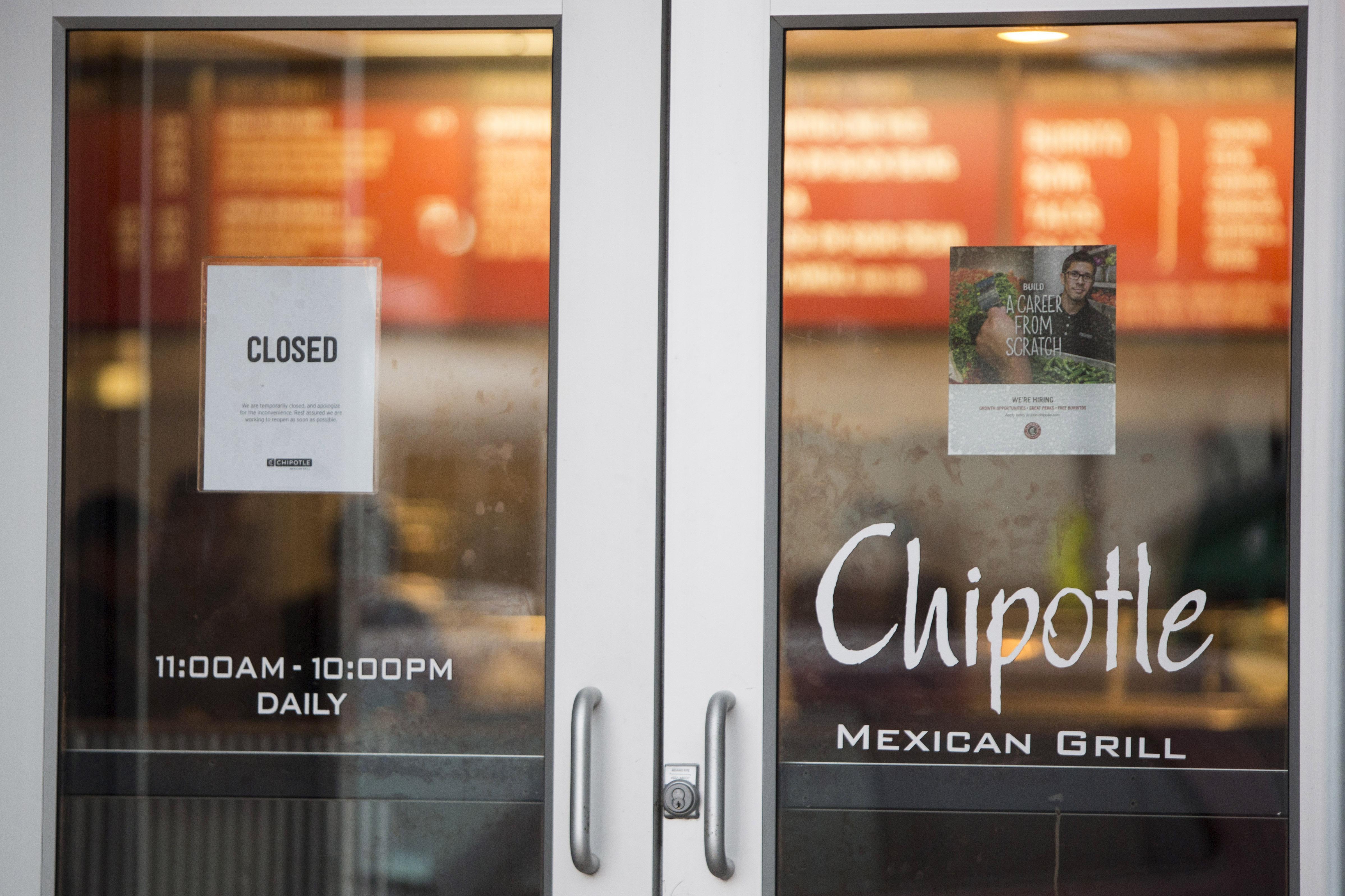 Chipotle closed Ohio location