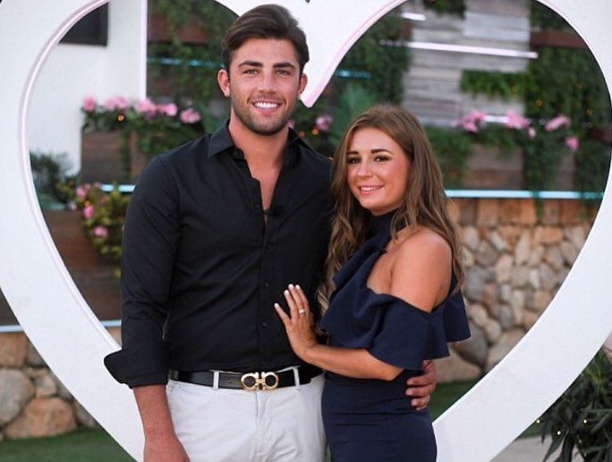 Love Island 2018 finalists Jack Fincham and Dani Dyer. The pair enjoyed a McDonalds on their return to the U.K. after winning the ITV2 show