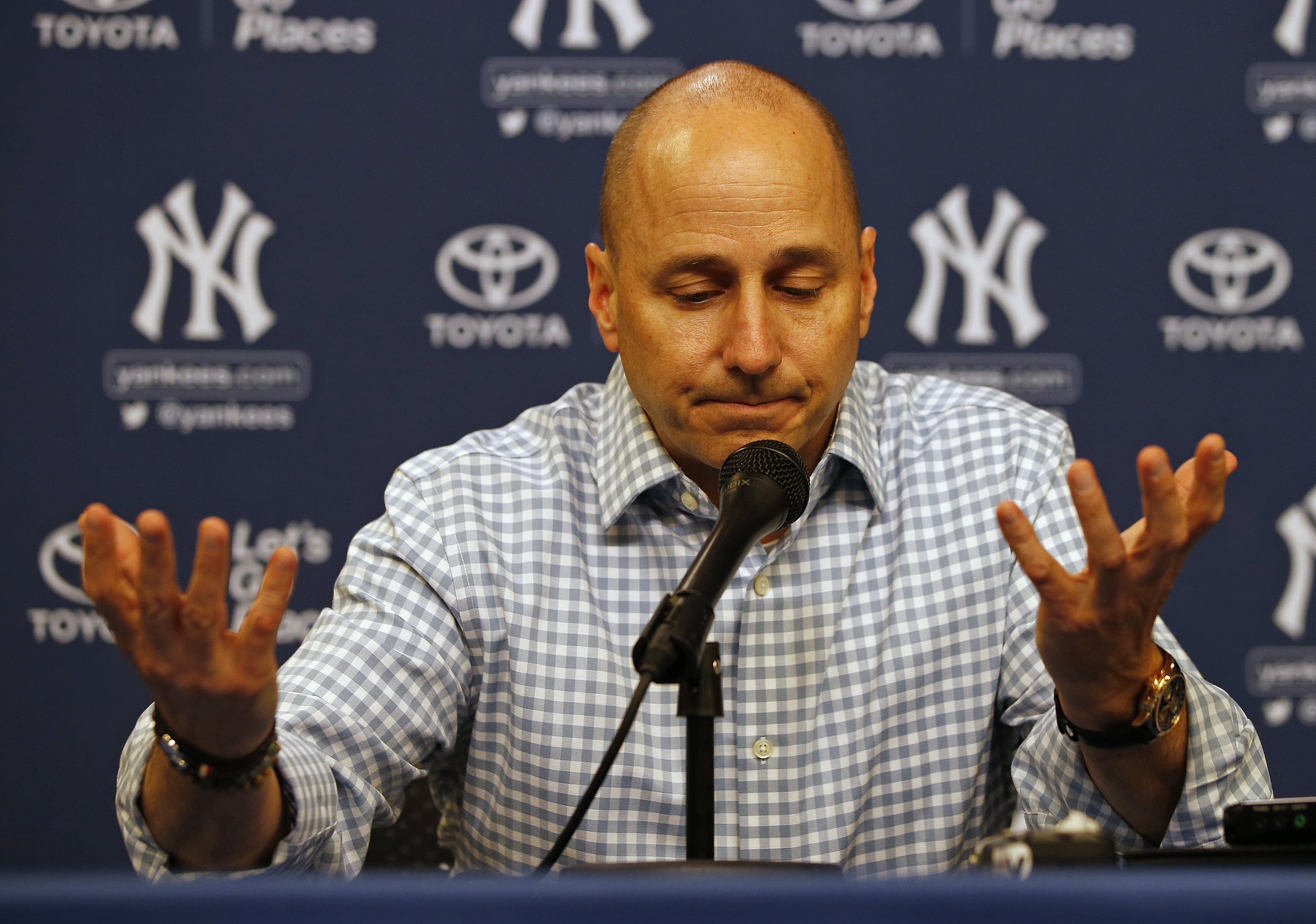 Image result for Brian  cashman speaking gifs