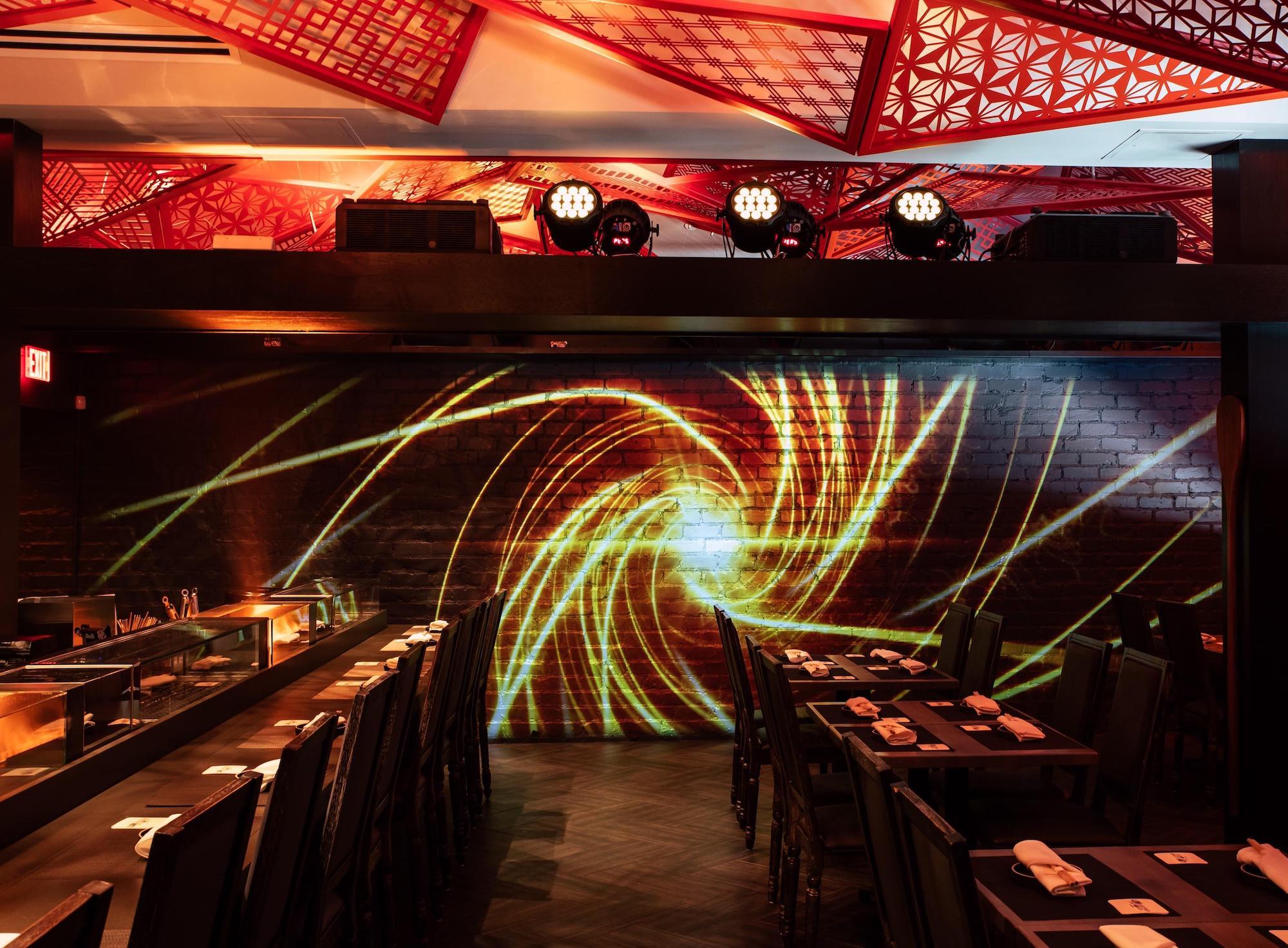 Santa Monica's Wild New Japanese Robata Does an Insane Nightly Light Show