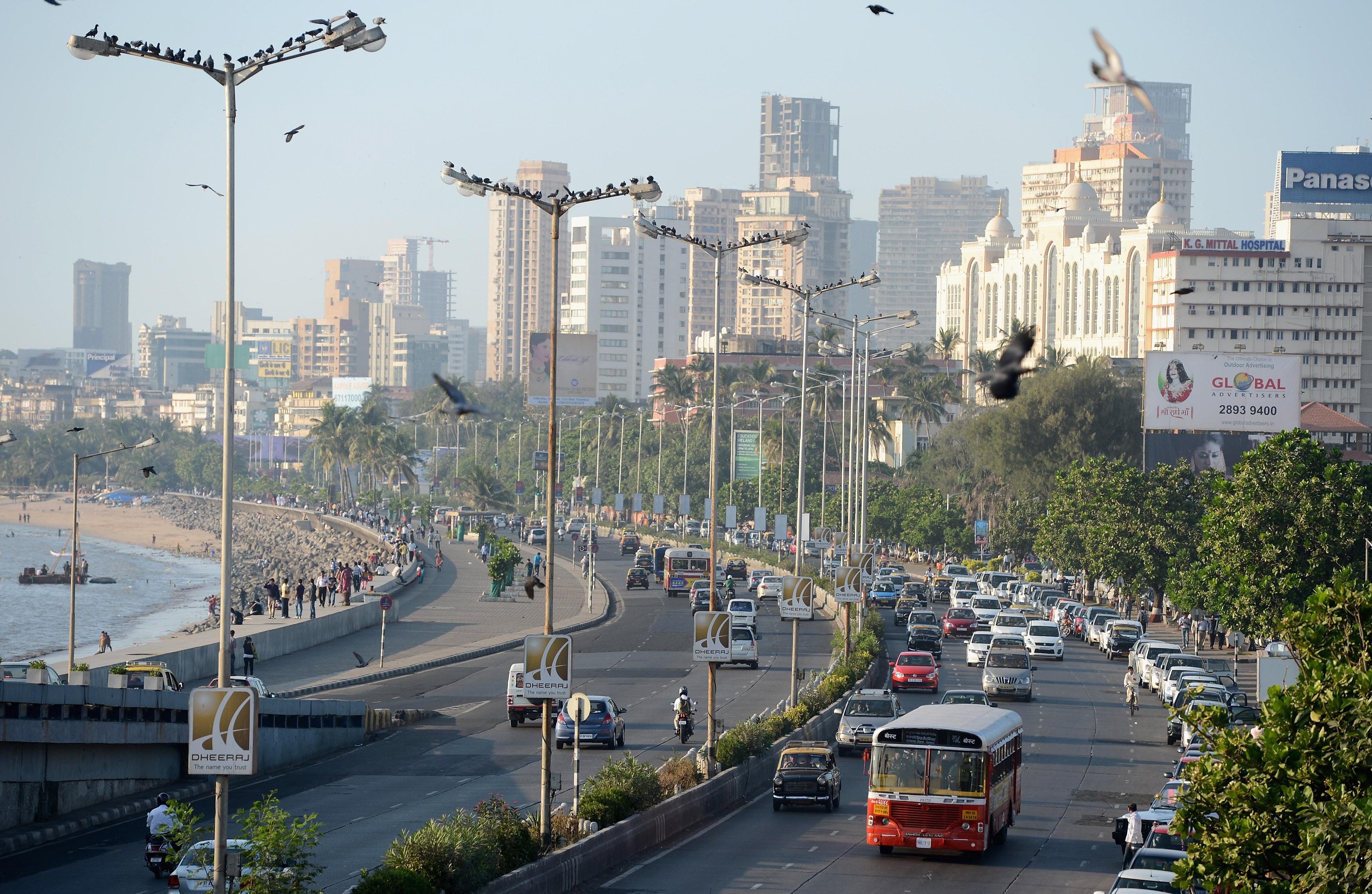 Traffic in Mumbai, India